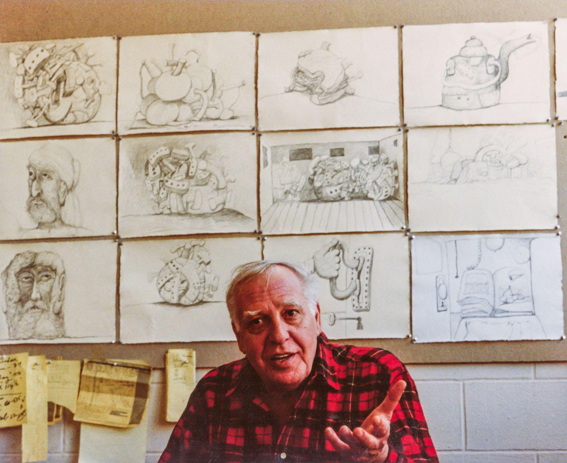 Philip Guston in his studio in 1980 Photo: Sidney Felsen, Gemini G.E.L.