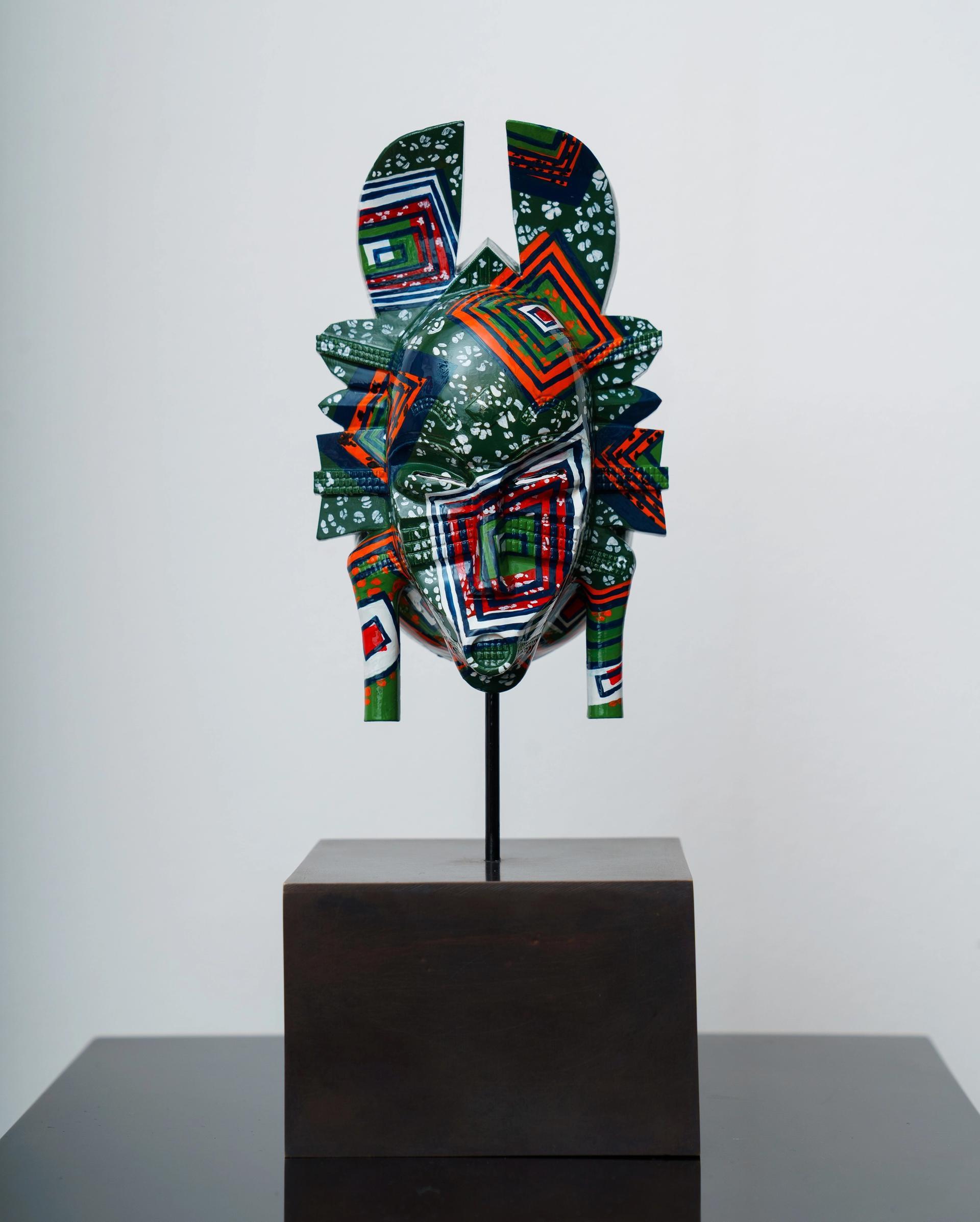 Yinka Shonibare's Hybrid Mask II (K'peliye'e, 2021) Courtesy of the artist. Photo: Ben Broomfield