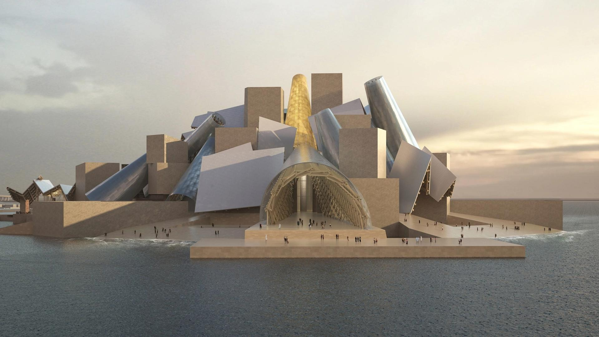 Rendering of the Frank Gehry-designed Guggenheim Abu Dhabi Photo: Courtesy TDIC and Gehry Partners, LLP