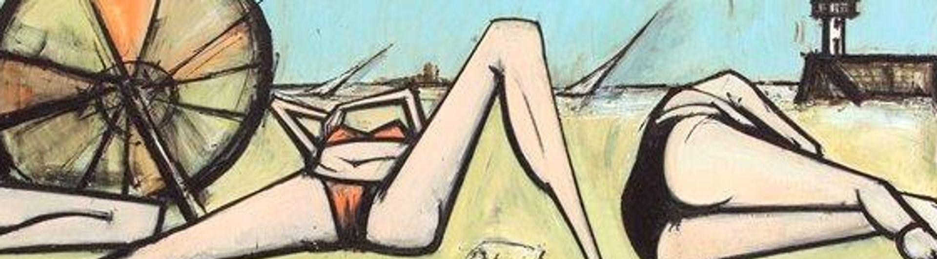Bernard Buffet's Les plages, la grande plage (1967). Galerie Tamenaga