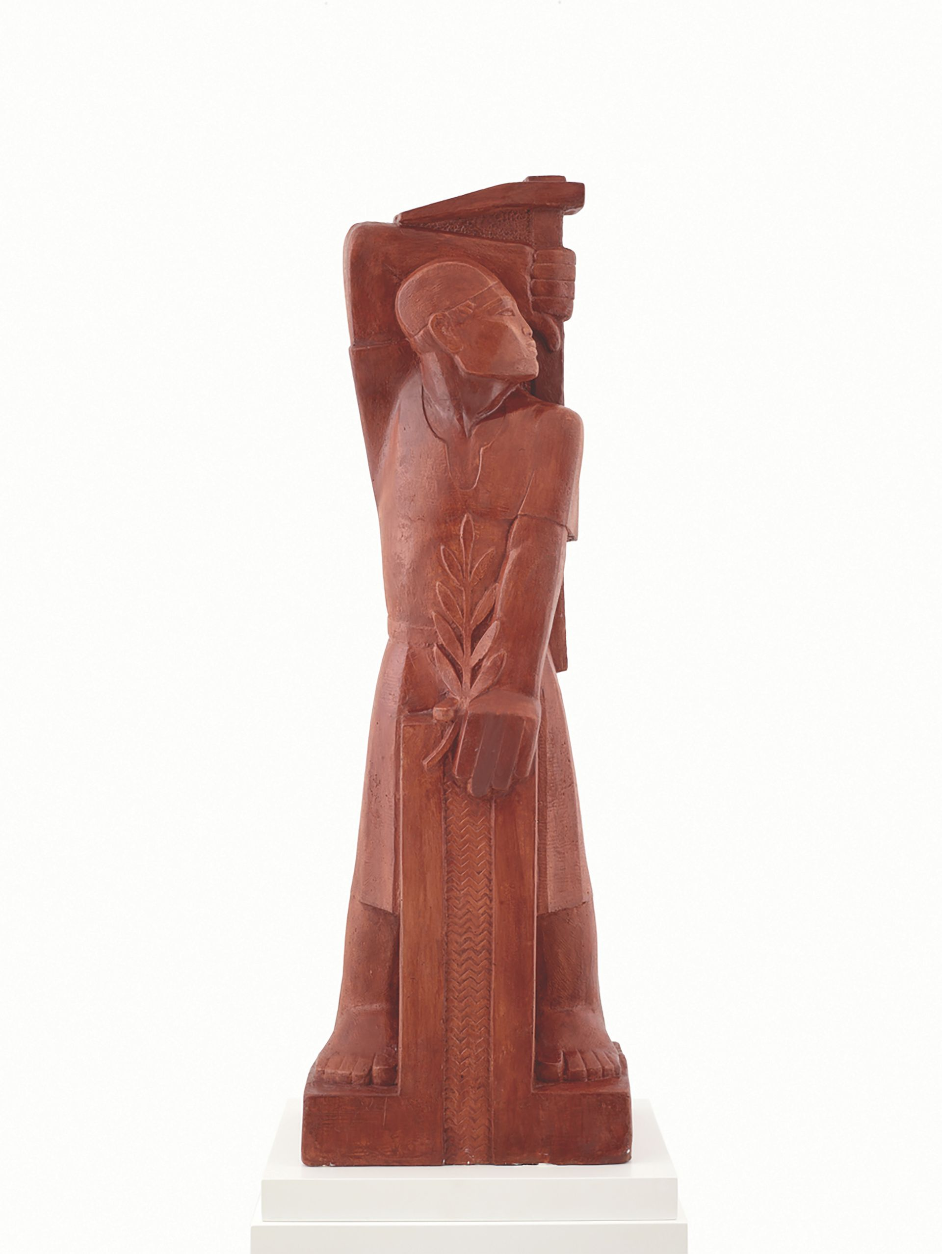 The Worker, bought by Ramzi Dalloul from Bonhams in 2015 as a work by Mahmoud Moussa. The auctioneer has now refunded his money following doubts over the work's authenticity
