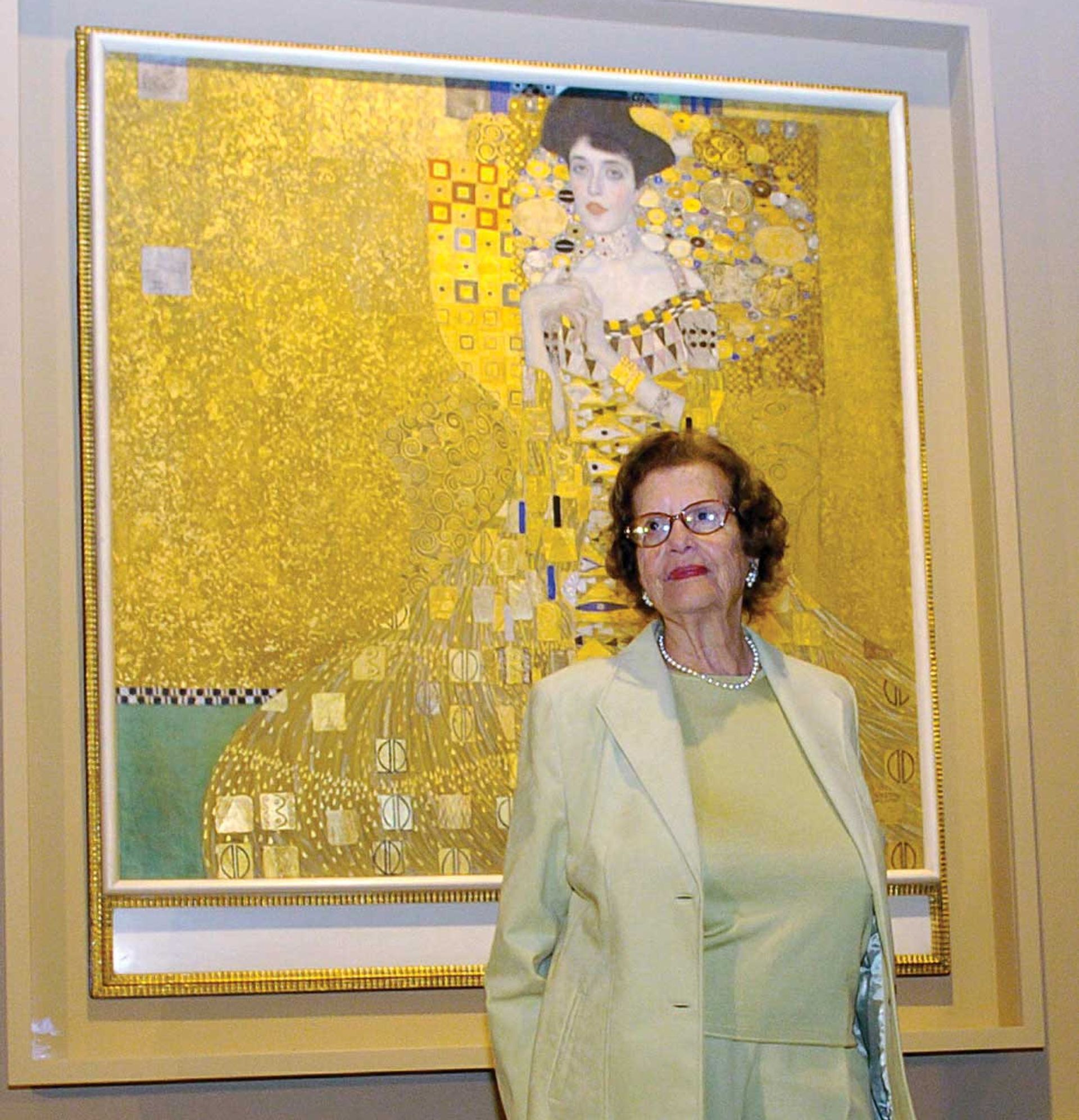 Maria Altmann took on the Austrian government in her bid to have Klimt's 1907 painting Adele Bloch-Bauer I and other works looted by the Nazis returned to her family Photo: Chris Pizzello