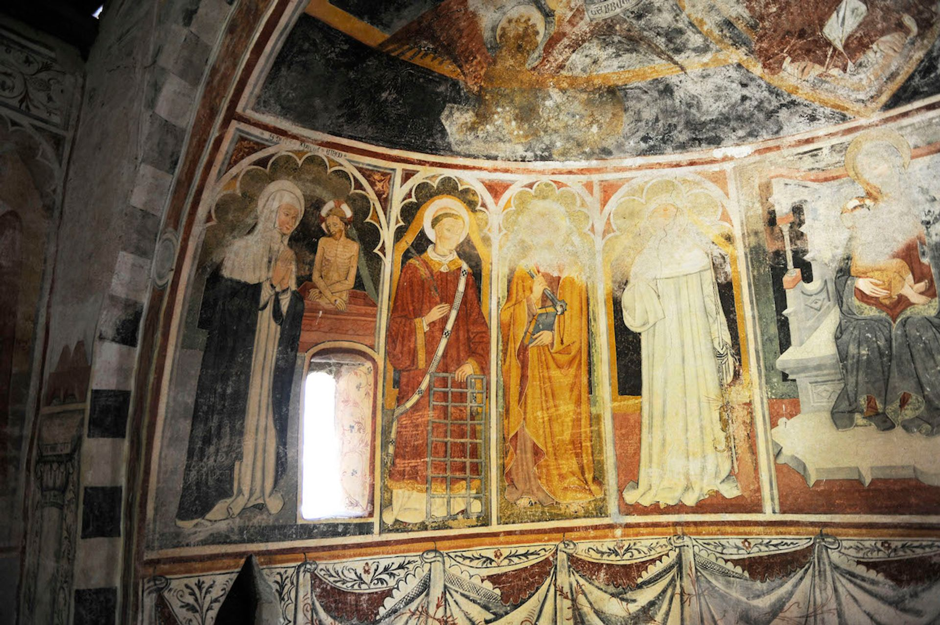 The interior of the San Bernardo at Aosta a Piozzo, one of the churches whose door the app will open Courtesy of Chiese a porte aperte