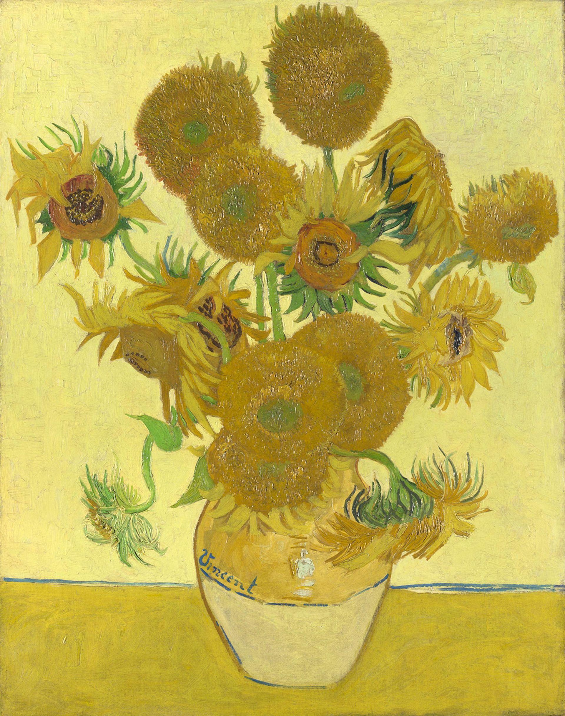 Vincent van Gogh's Sunflowers (1888) © National Gallery, London
