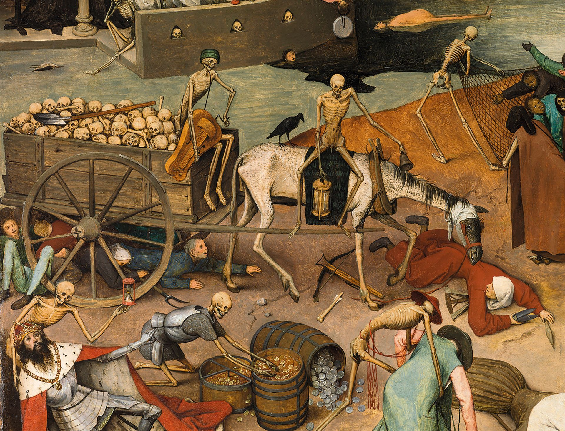 Lost details in The Triumph of Death (1562-63; detail) were reinstated by using copies of the work made by Bruegel's sons © Museo Nacional del Prado