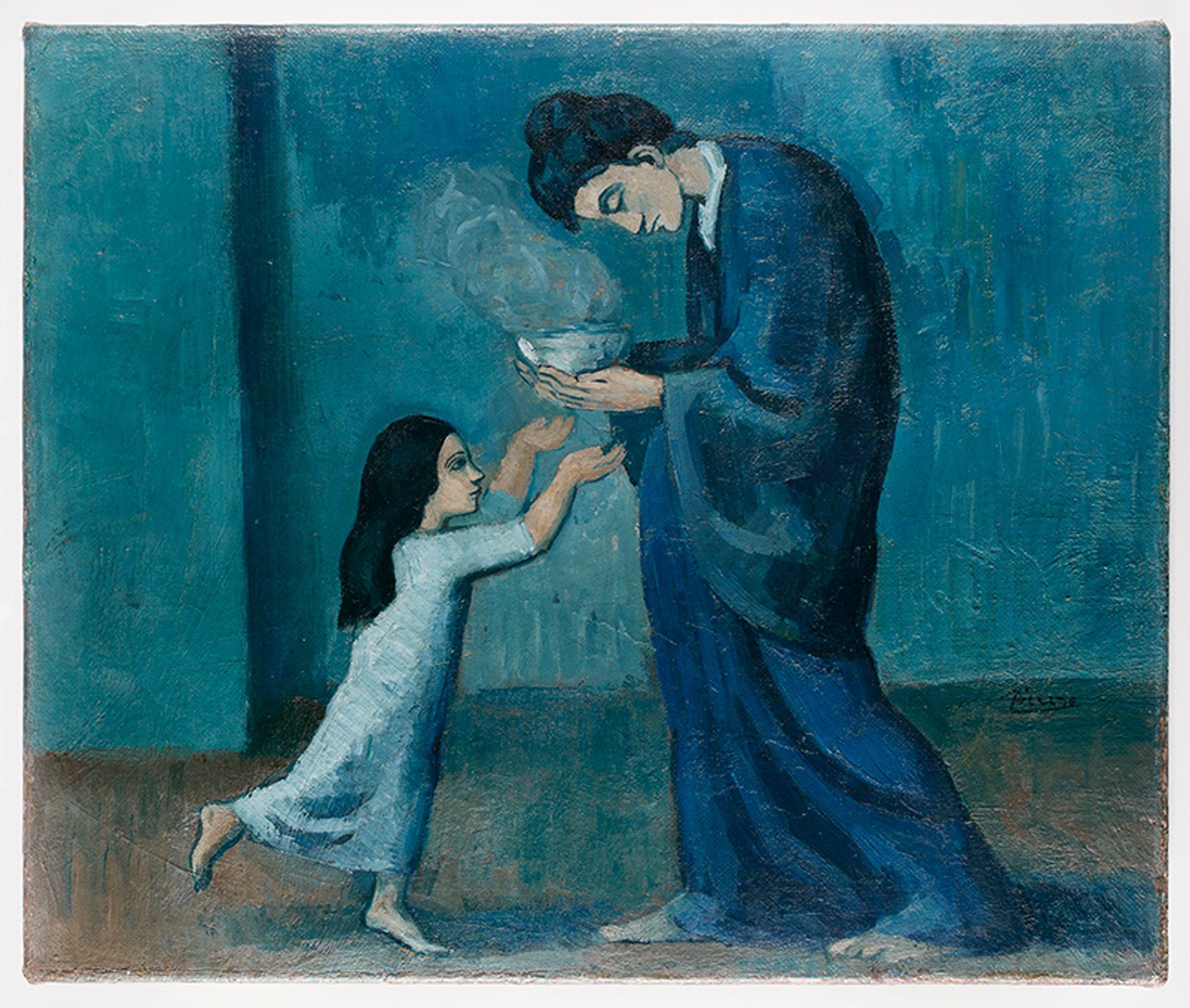 Pablo Picasso, La Soupe (1902-03) Picasso Estate / SODRAC (2018)