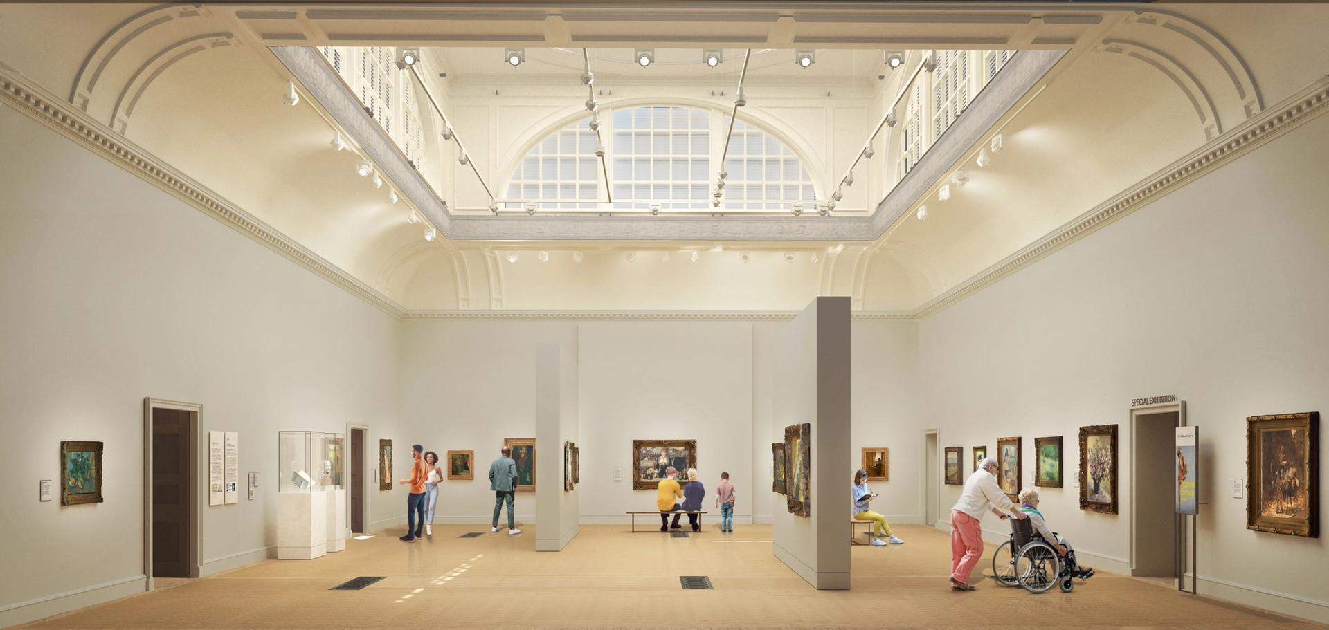 A rendering of the redeveloped Great Room in the Courtauld Gallery Photo: Nissen Richards Studio