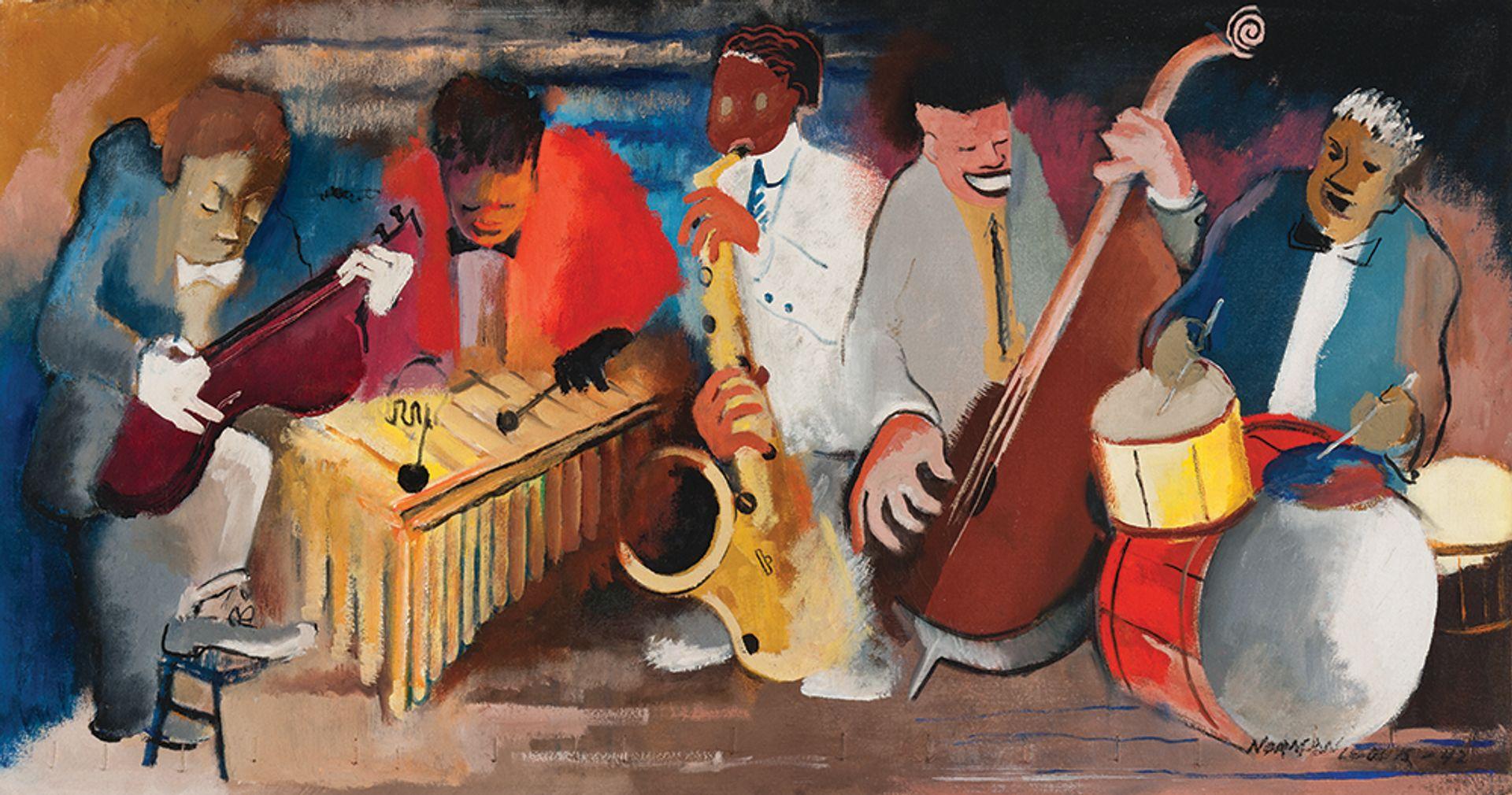 Norman Lewis, Jumping Jive (1942) Michael Rosenfeld Gallery, New York