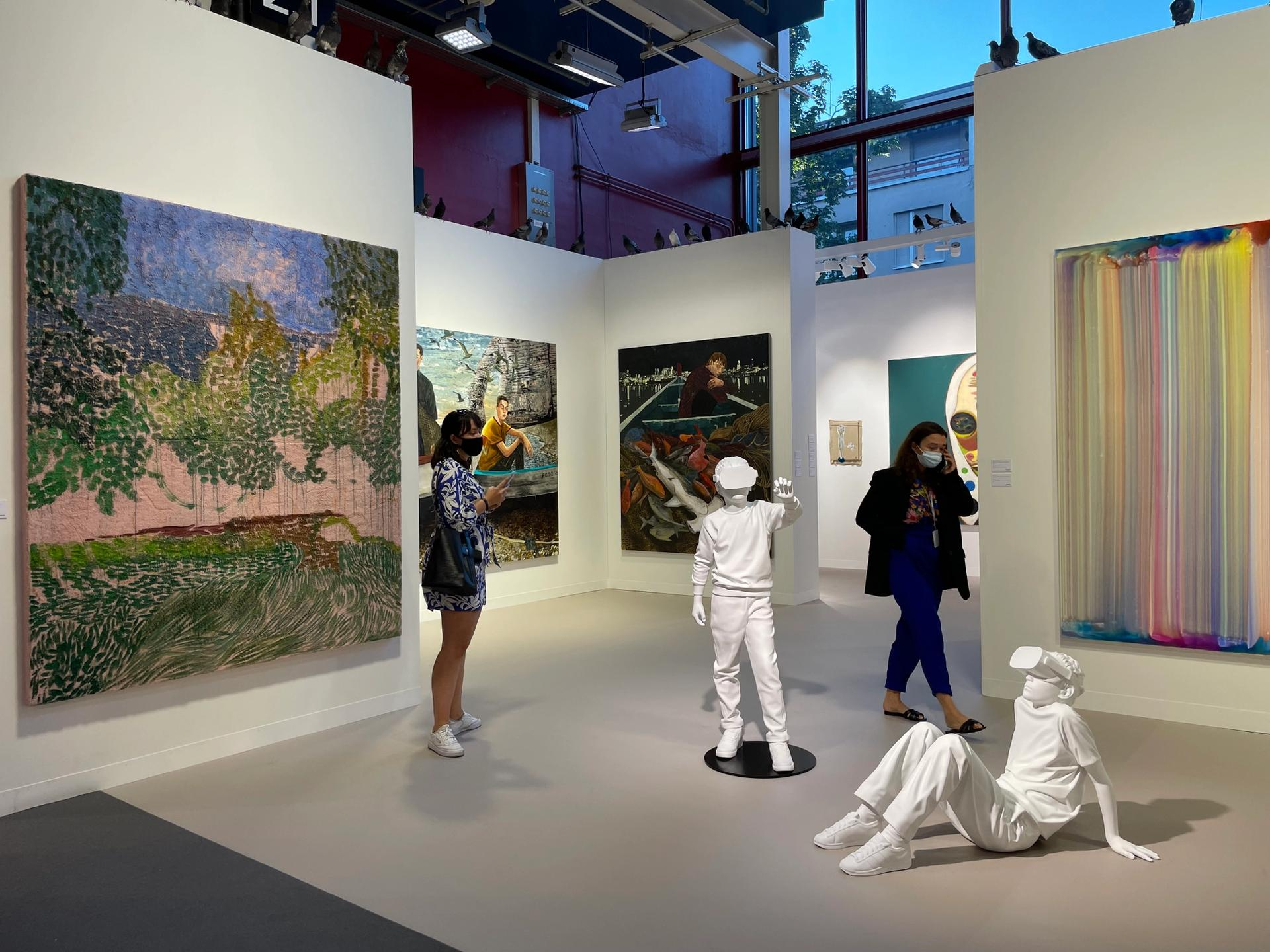 Back in business: by Thursday, Perrotin gallery had sold two-thirds of its stand at Art Basel. Hauser & Wirth, Thaddaeus Ropac and Lévy Gorvy made big-ticket sales at the VIP opening Photo: Kabir Jhala