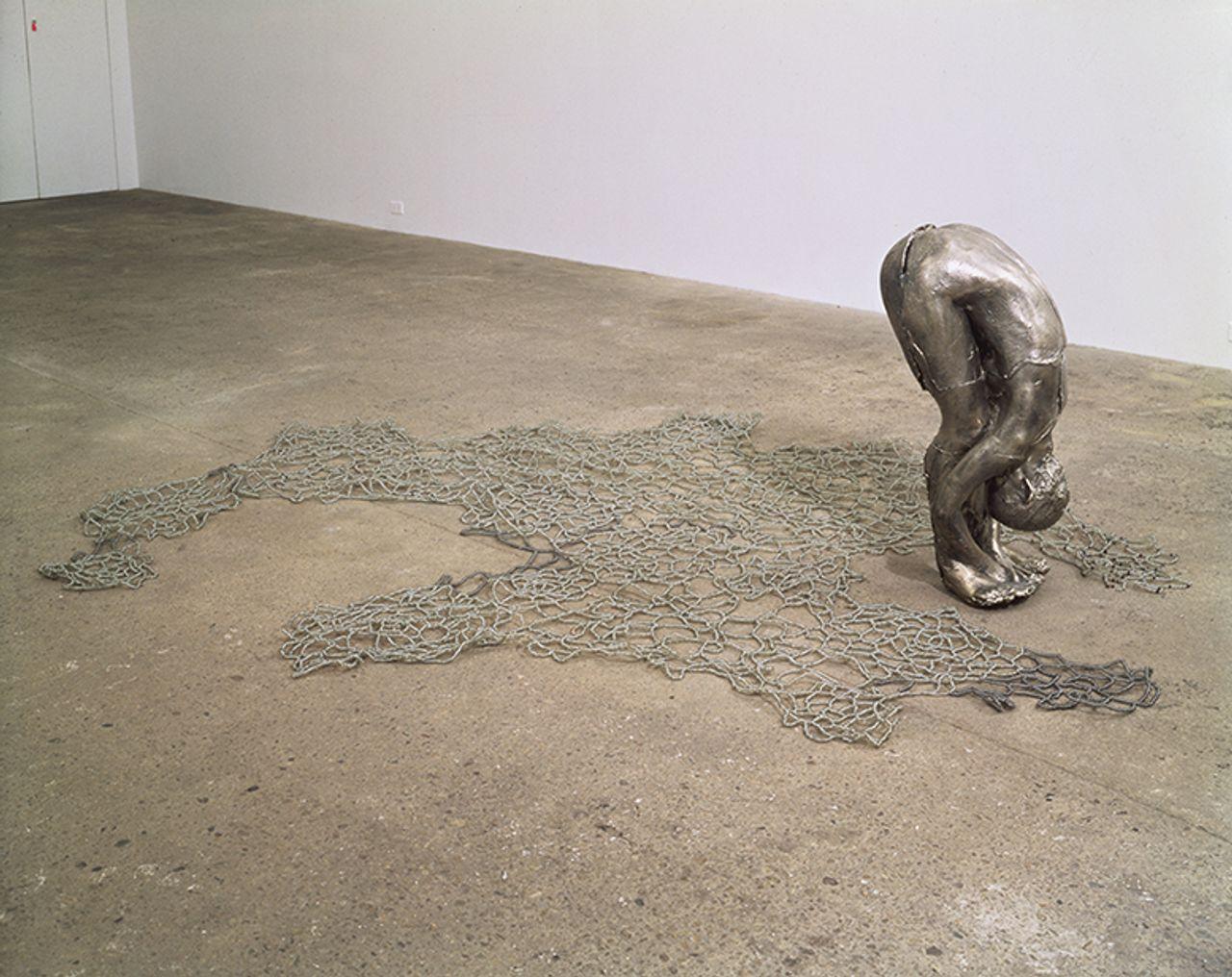 Kiki Smith's Untitled III (Upside-Down Body with Beads) (1993) © Kiki Smith. Courtesy Pace Gallery