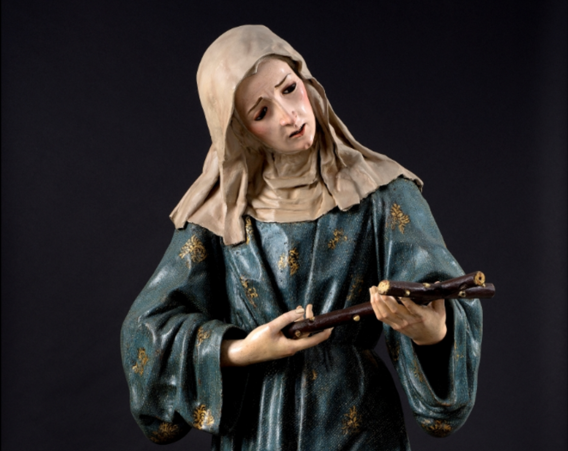 Saint Margaret of Cortona, by the Baroque artist José de Mora, offered by the dealer Nicolás Cortés at Tefaf New York