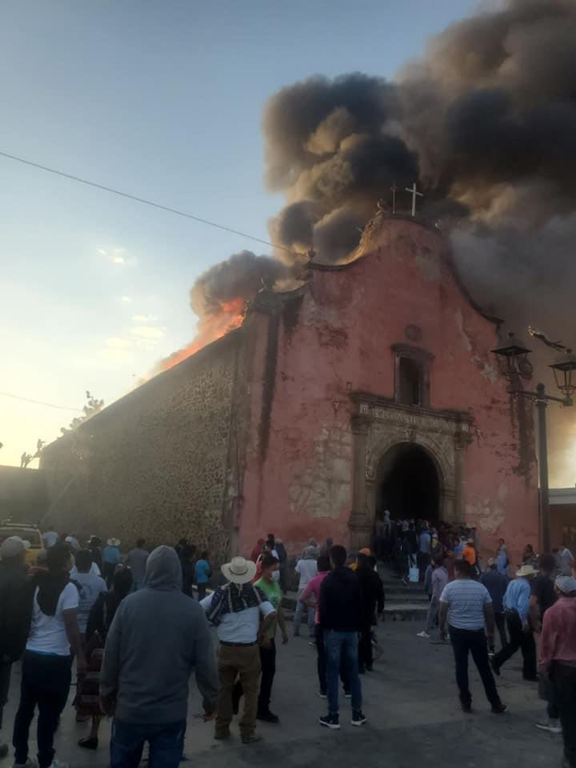 A fire that broke at St James the Apostle church in Nurio, in the Mexican state of Michoacán, last week destroyed the building's interior