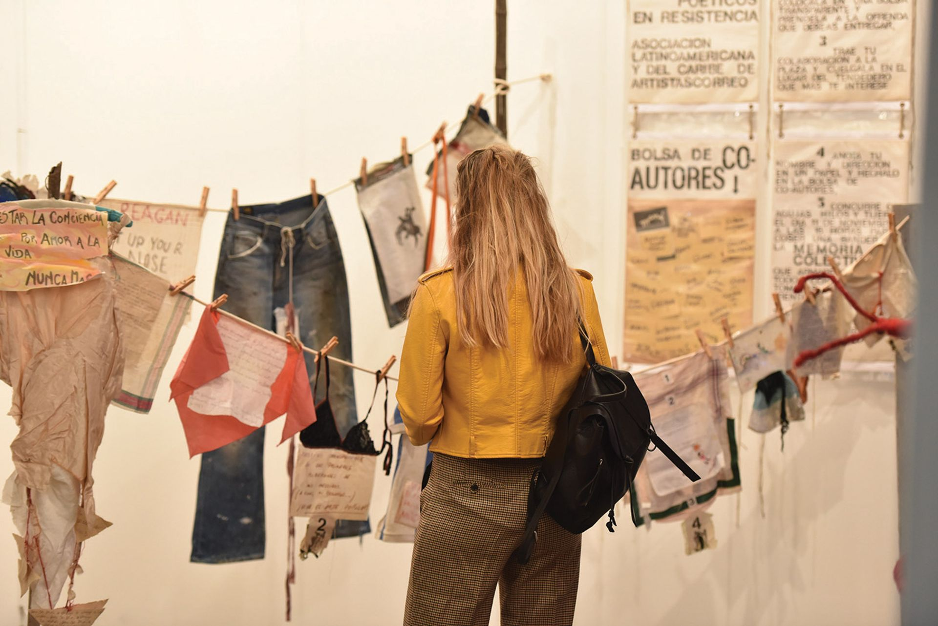 Rags to riches? A visitor at last year's edition of ArteBA; since then, Argentina's economic recovery has been rocky Courtesy of arteBA Fundación