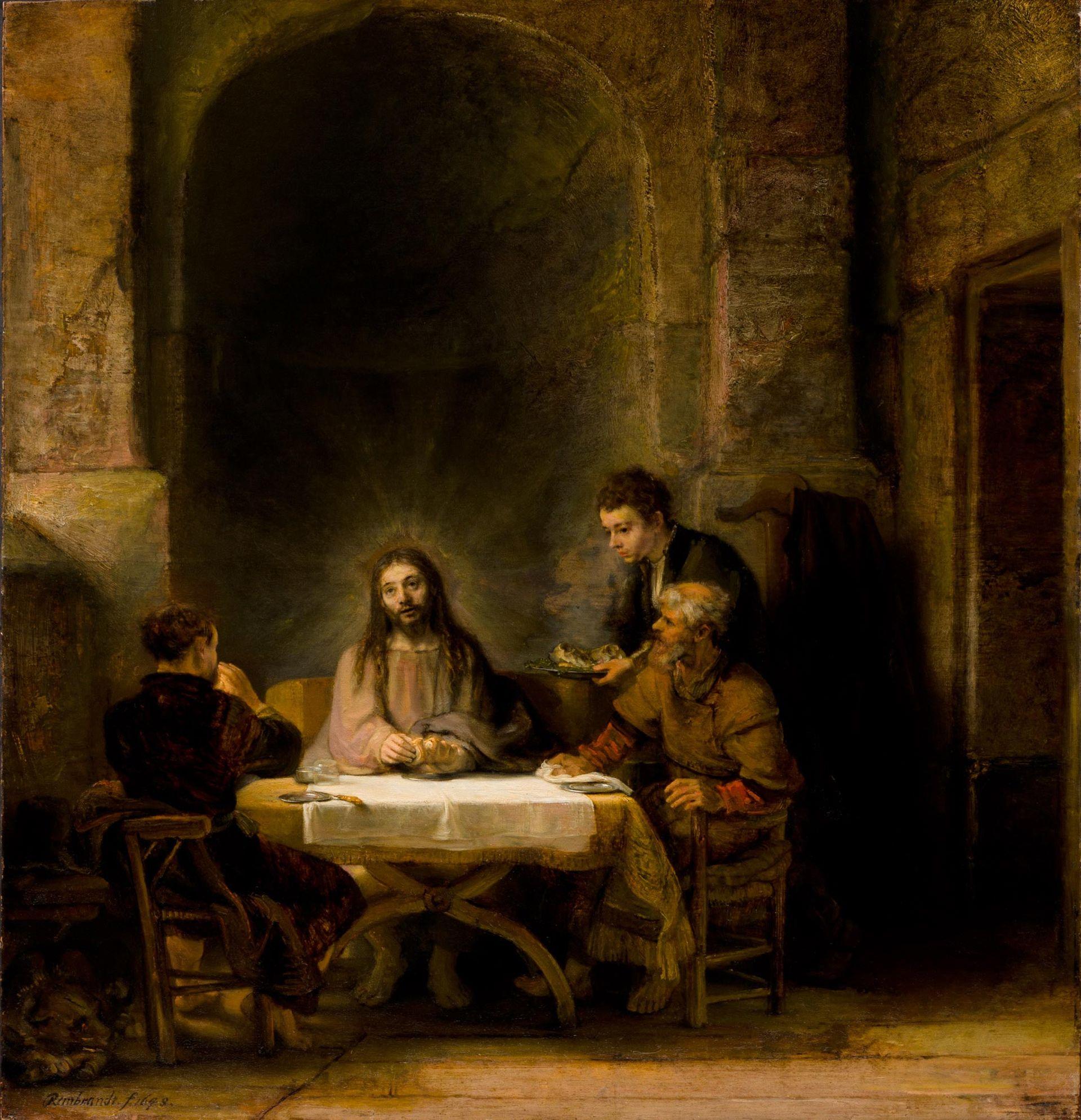 Rembrandt's Pilgrims at Emmaus has returned to the Musée du Louvre © 2010 Musée du Louvre / Philippe Fuzeau