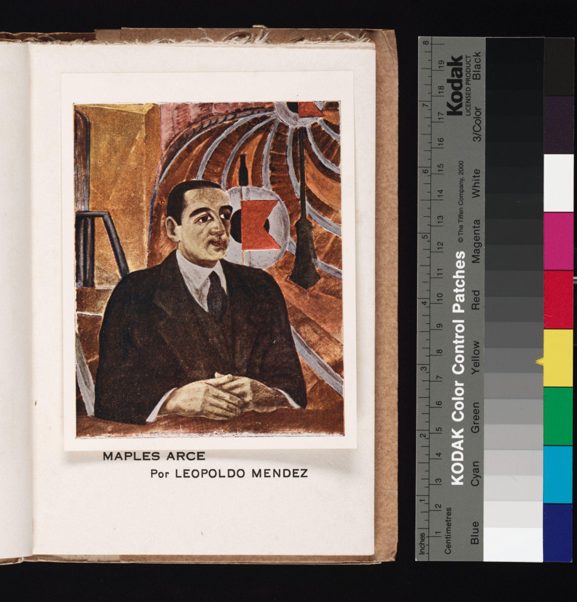Leopoldo Méndez, Retrato de Manuel Maples Arce. Frontispiece for Manuel Maples Arce, Poemas interdictos (1927) Courtesy of the Beinecke Rare Book and Manuscript Library, Yale University. Reproduced by Permission from Pablo Mendez