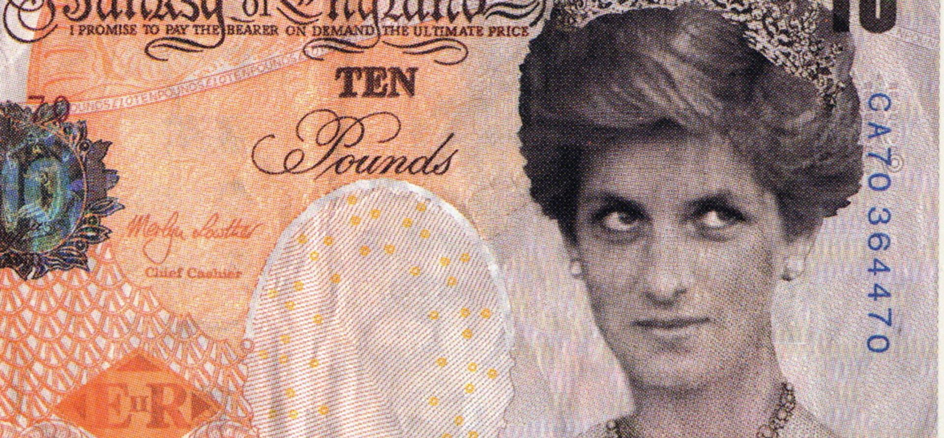 Di-faced Tenner (detail, 2004) has entered the department of coins and medals © Banksy courtesy of Pest Control Office