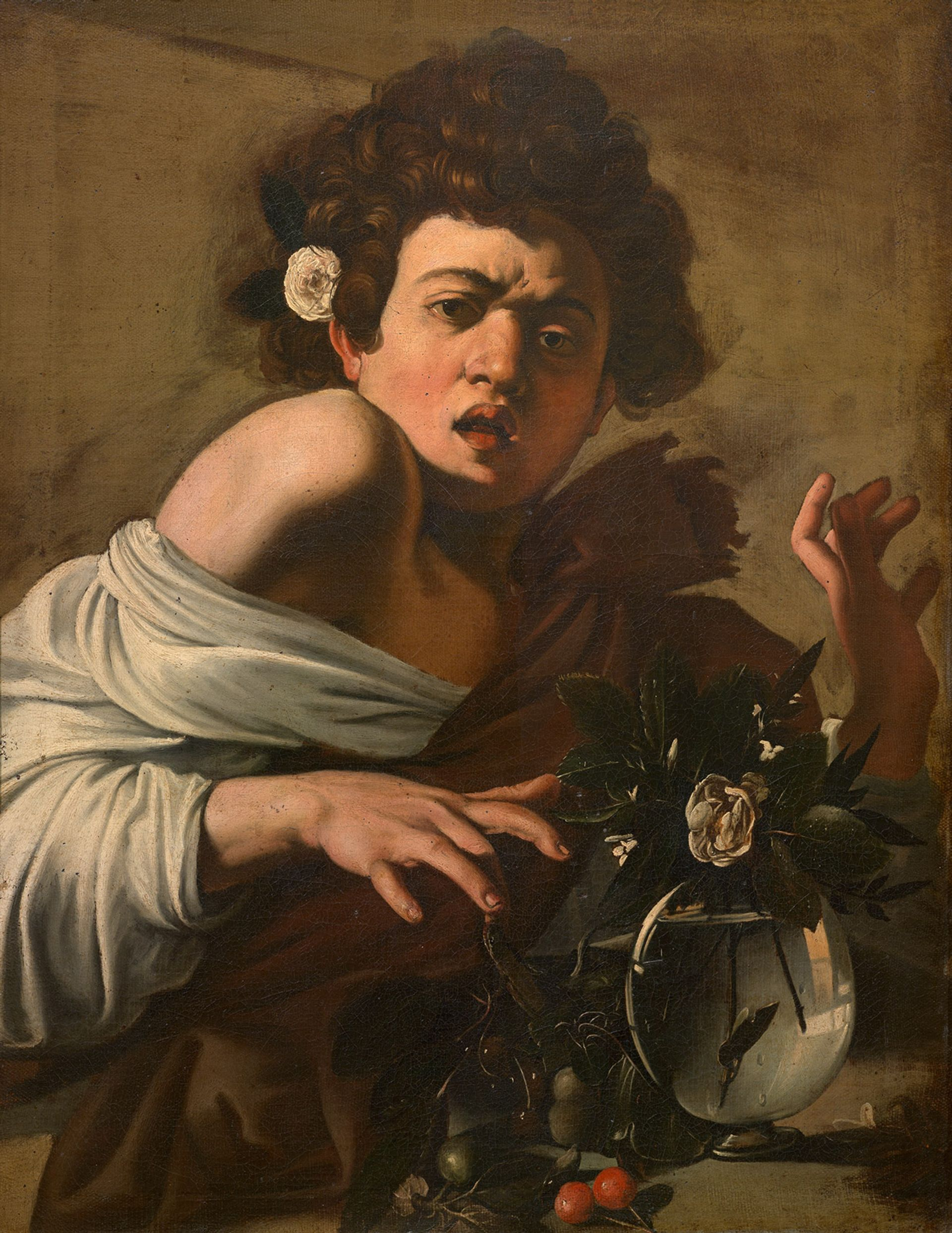 Michelangelo Merisi, Caravaggio, Boy Bitten by a Lizard (around 1594–1596) Courtesy of Fondazione Longhi Firenz