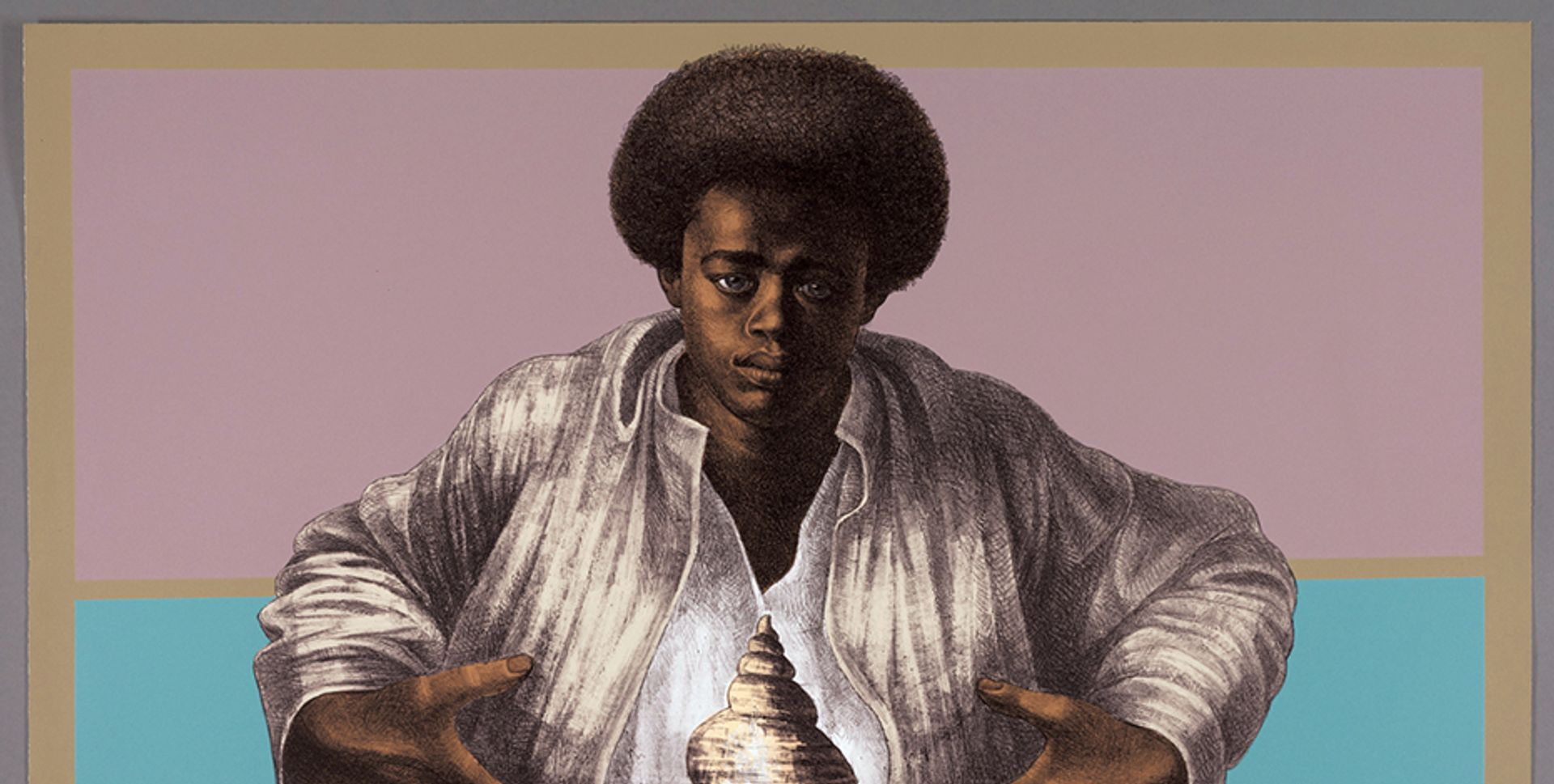 Charles White's Sound of Silence (1978) © The Charles White Archives. Photo: The Art Institute of Chicago