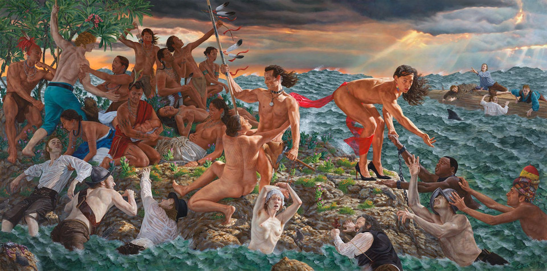 Kent Monkman, Welcoming the Newcomers (2019) Courtesy of the artist