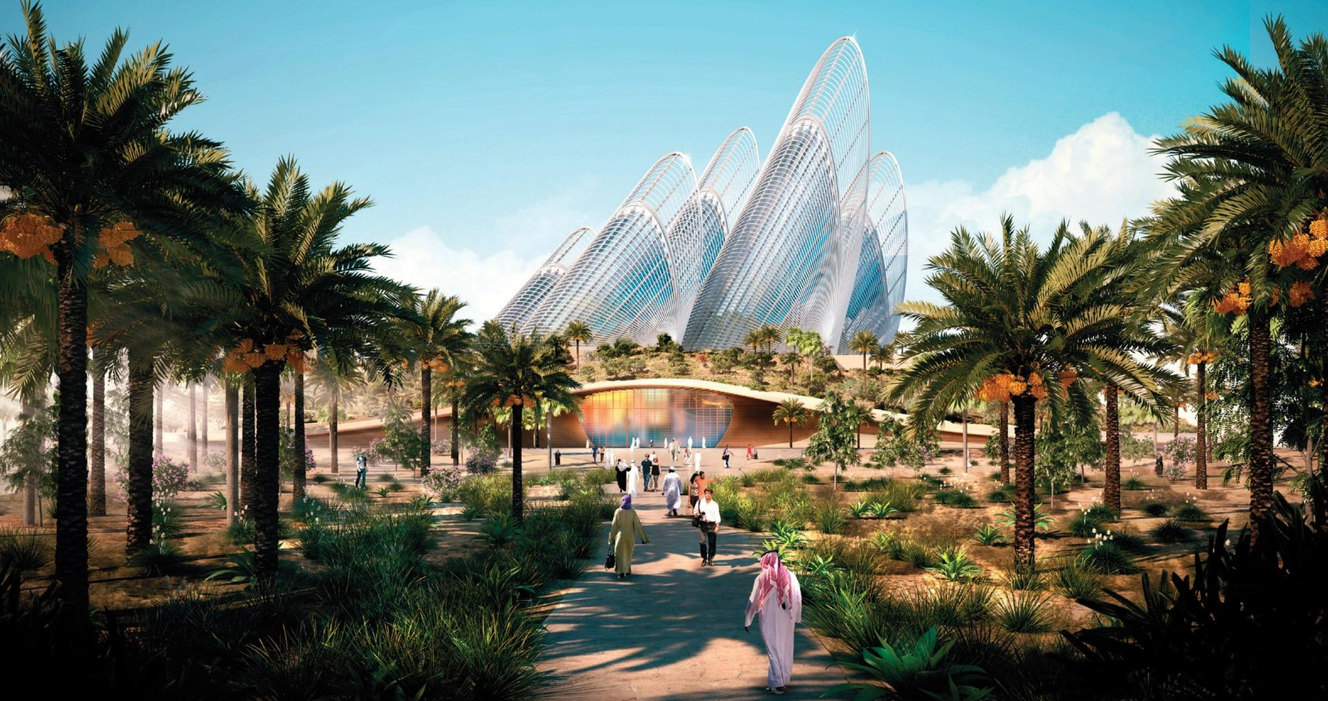 Rendering of the Zayed National Museum Foster and Partners