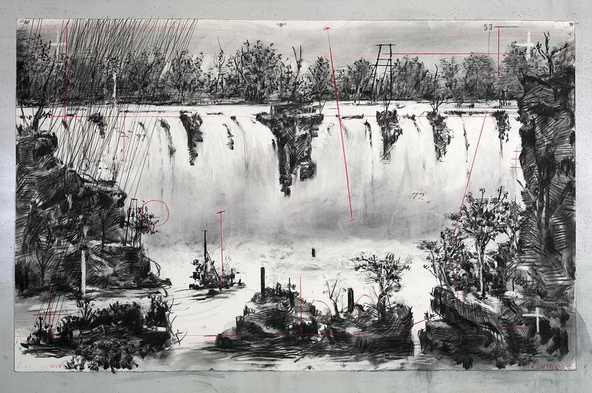 William Kentridge's latest project The Pool Ahead (2018) William Kentridge. Courtesy of the artist and Marian Goodman Gallery