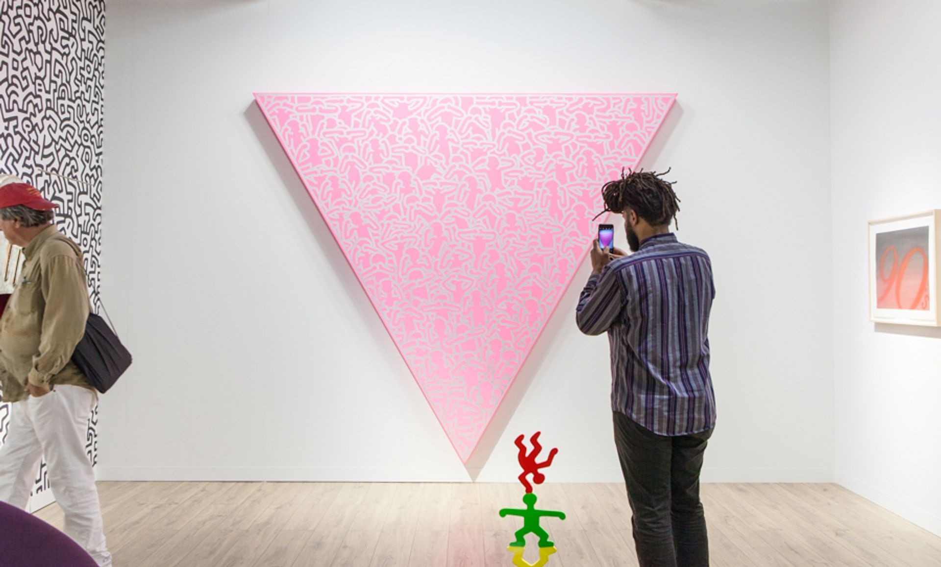 Keith Haring's Silence = Death (1988) is on show at Lévy Gorvy's stand © Vanessa Ruiz