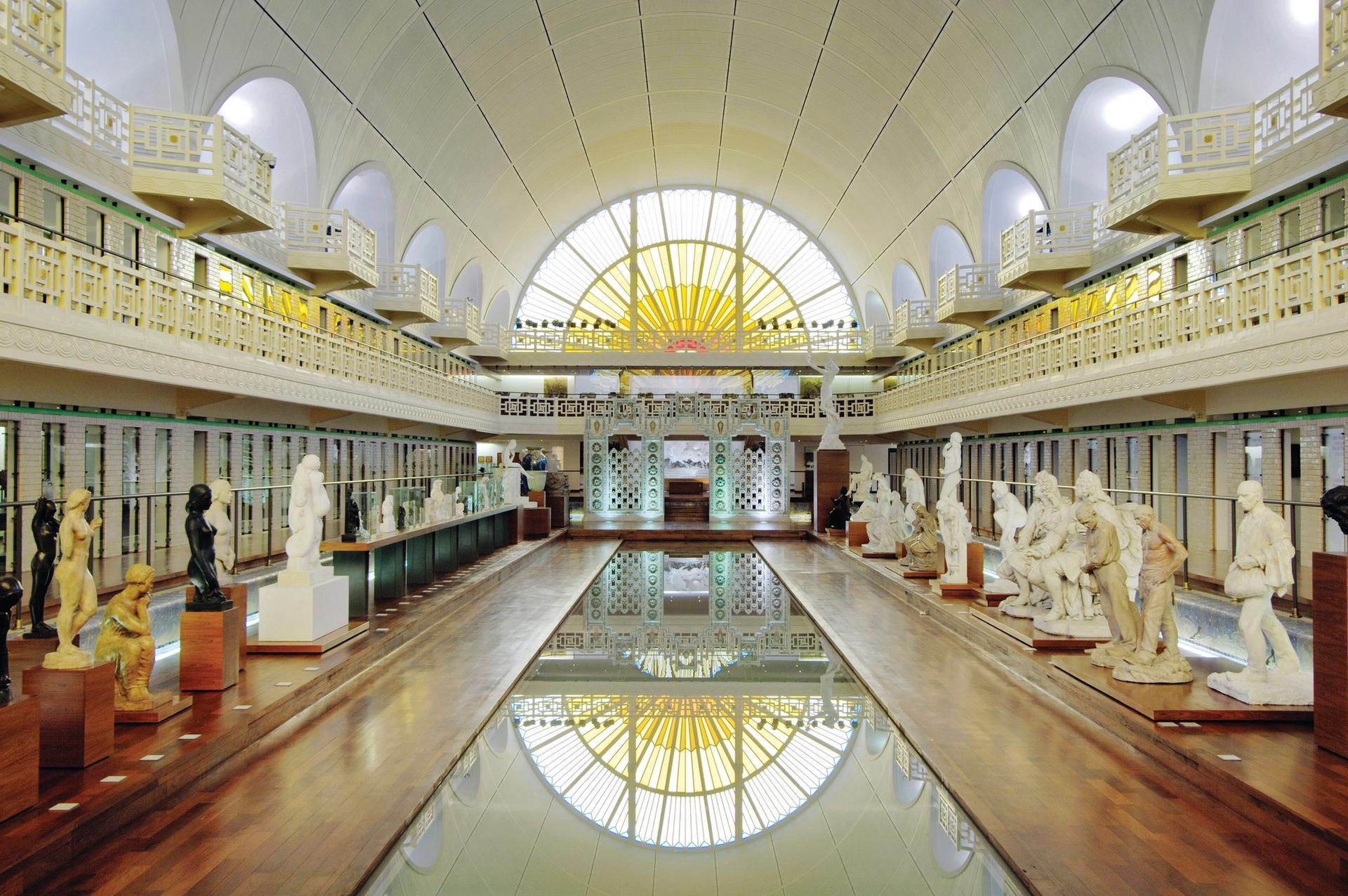 The converted 1930s baths complex has been expanded by the architect of the Musée d'Orsay in Paris, Jean-Paul Philippon Photo: Alain Leprince/MAIAD Roubaix