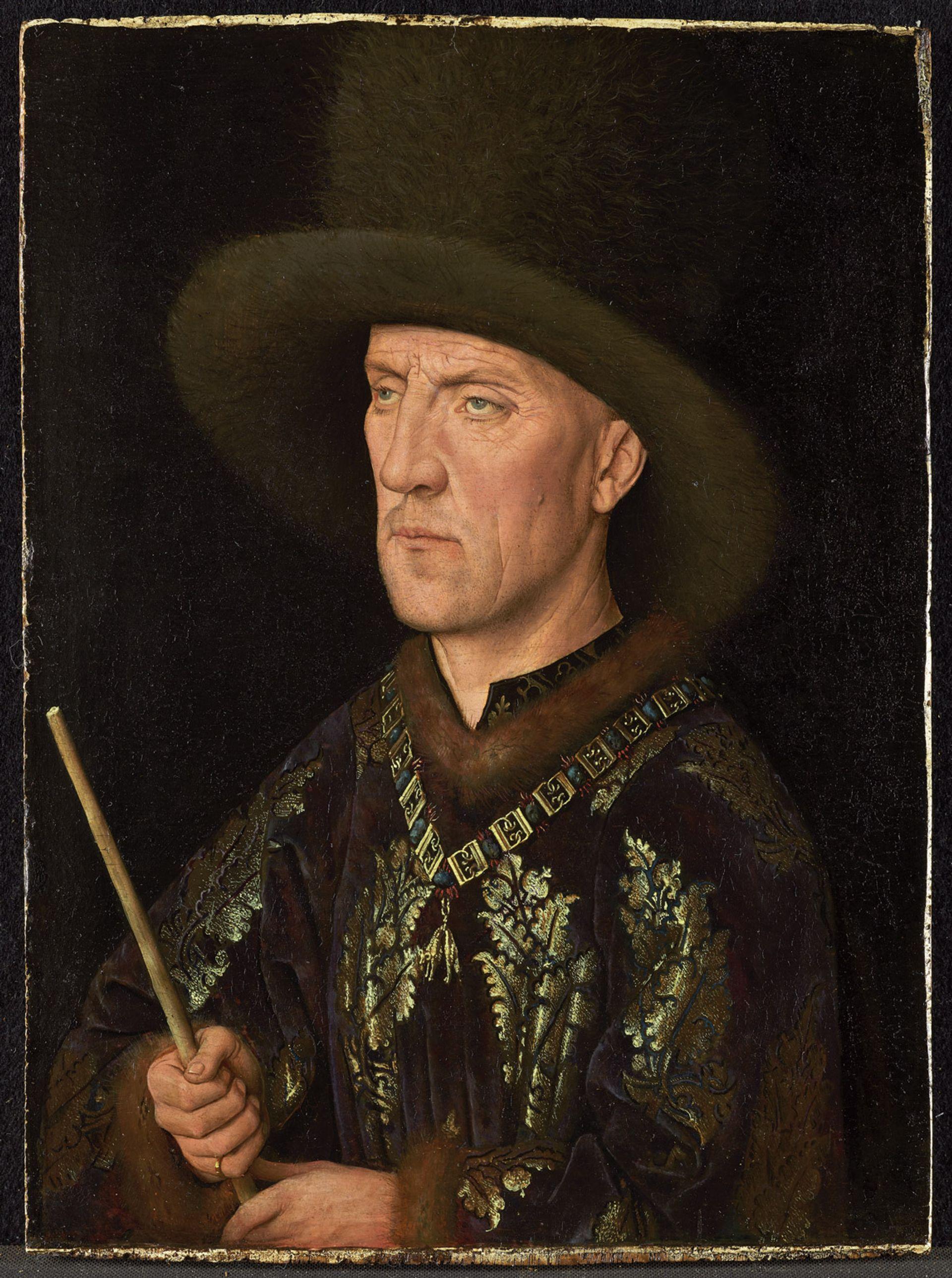 Jan van Eyck's newly restored Portrait of Baudouin de Lannoy (around 1435) Photo: Christoph Schmidt; courtesy of Staatliche Museen zu Berlin, Gemäldegalerie