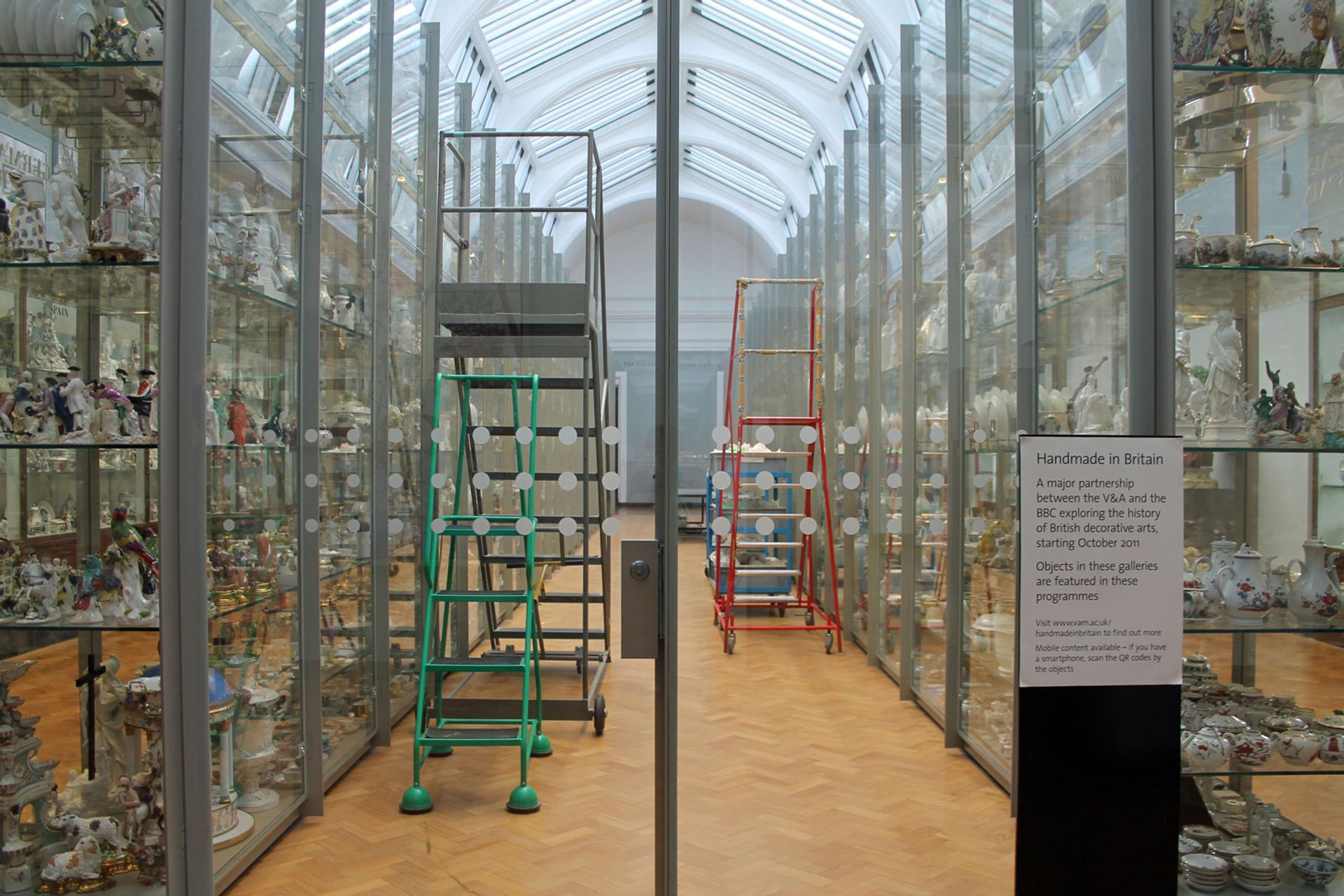 Visible storage at the Victoria & Albert Museum in London Wikimedia Commons