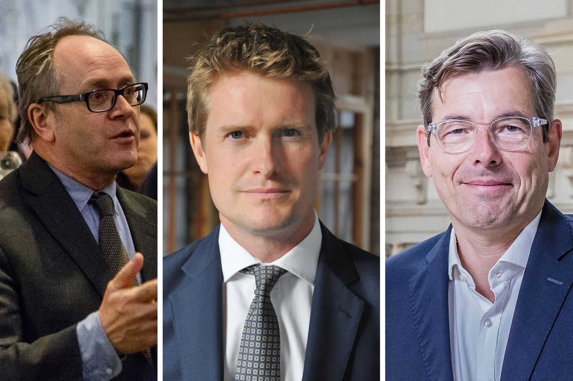 Nicholas Thomas, director of the Museum of Archaeology and Anthropology in Cambridge, Tristram Hunt, director of the V&A, Hartmut Dorgerloh, general director of the Humboldt Forum in Berlin