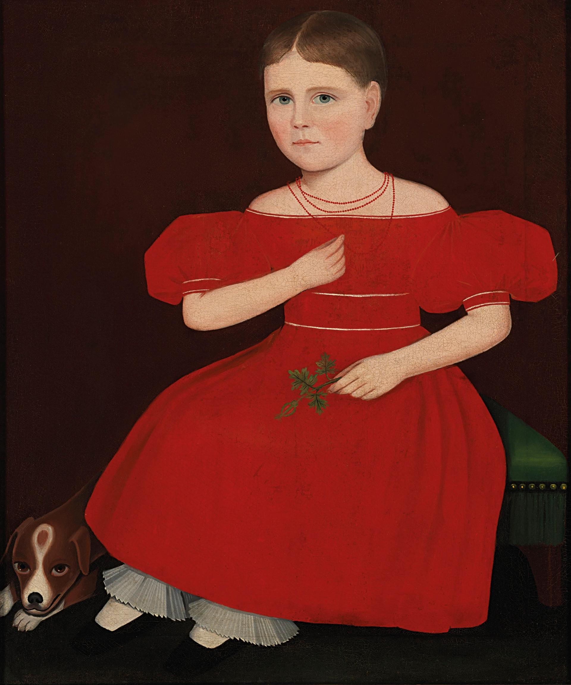 Furniture sales go to the dogs, but a dog painting by folk artist Ammi Phillips realised a record $1.7m at Christie's Americana sales. Christie's Images Ltd 2019