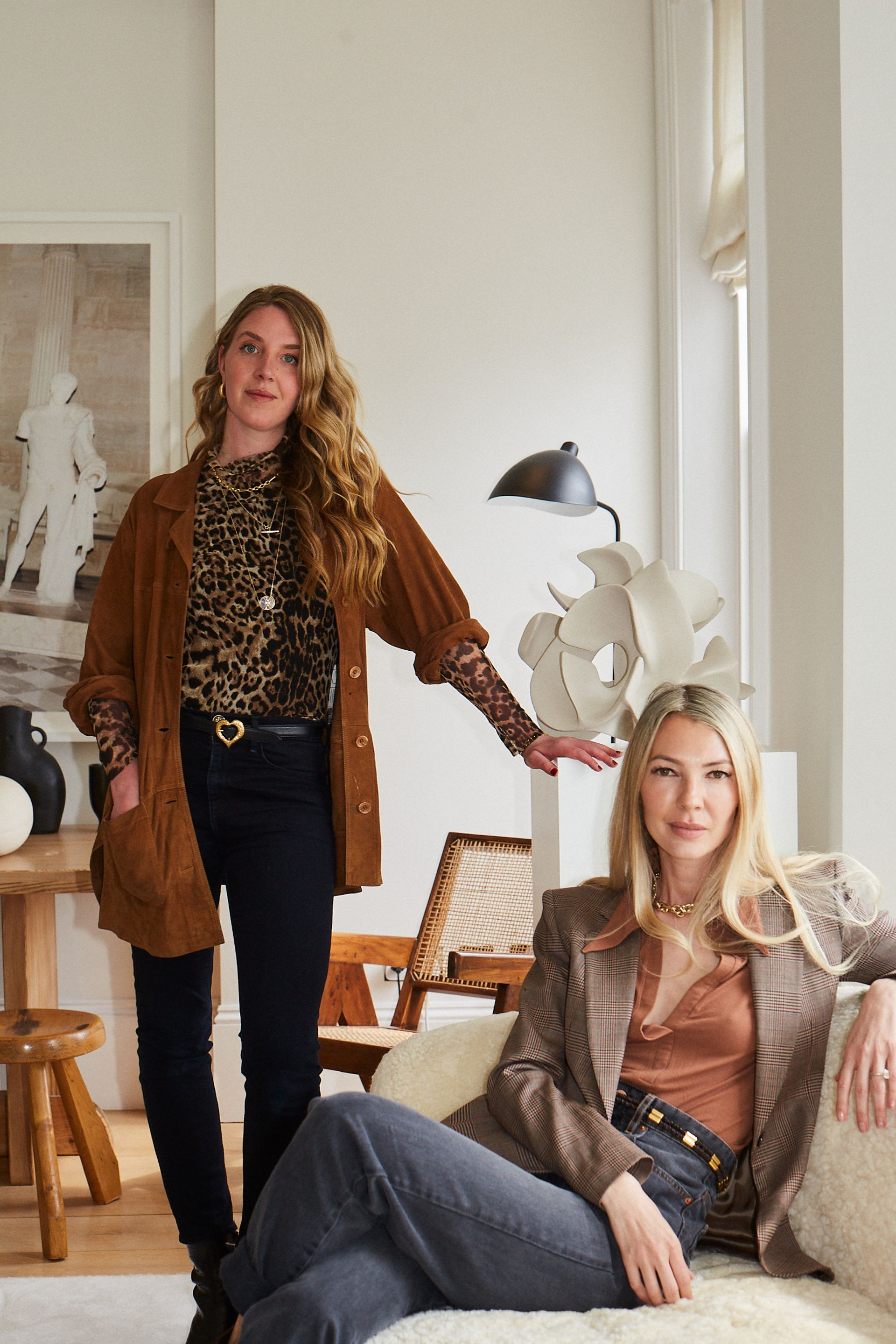 Lucinda Bellm and Roberta Benteler Courtesy LAMB Arts gallery. Photo by Billal Altright