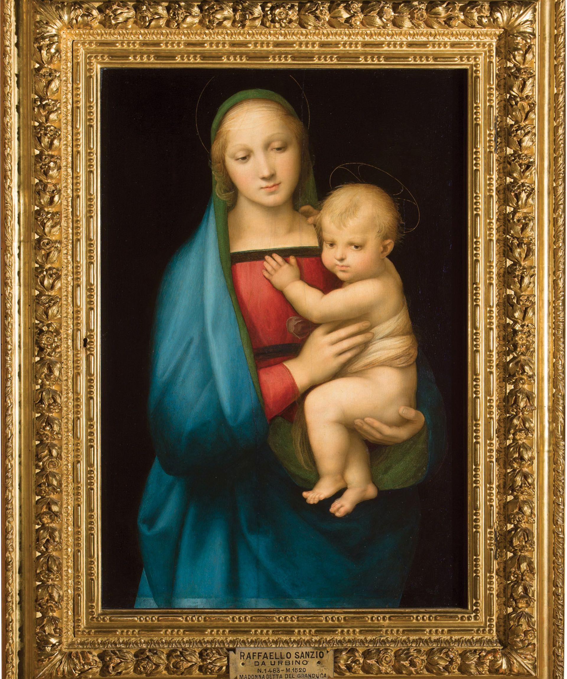 Madonna del Grandluca (around 1505-06) © Palatine Gallery. Case: courtesy of the Museo Nacional del Prado