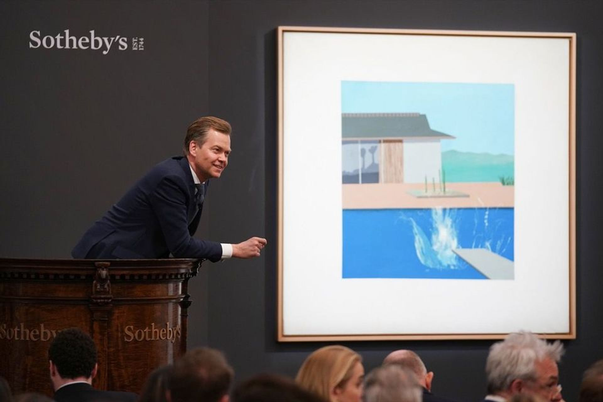 David Hockney's The Splash (1966) sold at Sotheby's earlier this year Courtesy of Sotheby's