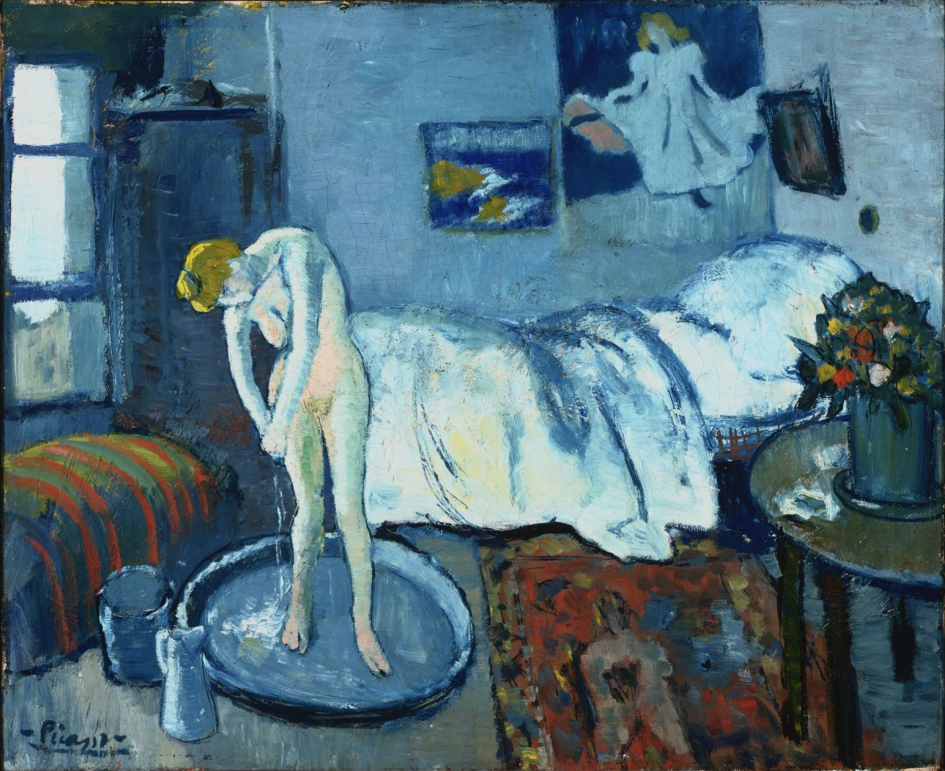 Pablo Picasso, The Blue Room (1901). Acquired in 1927 by The Phillips Collection, Washington, DC © Picasso Estate / SOCAN (2021)