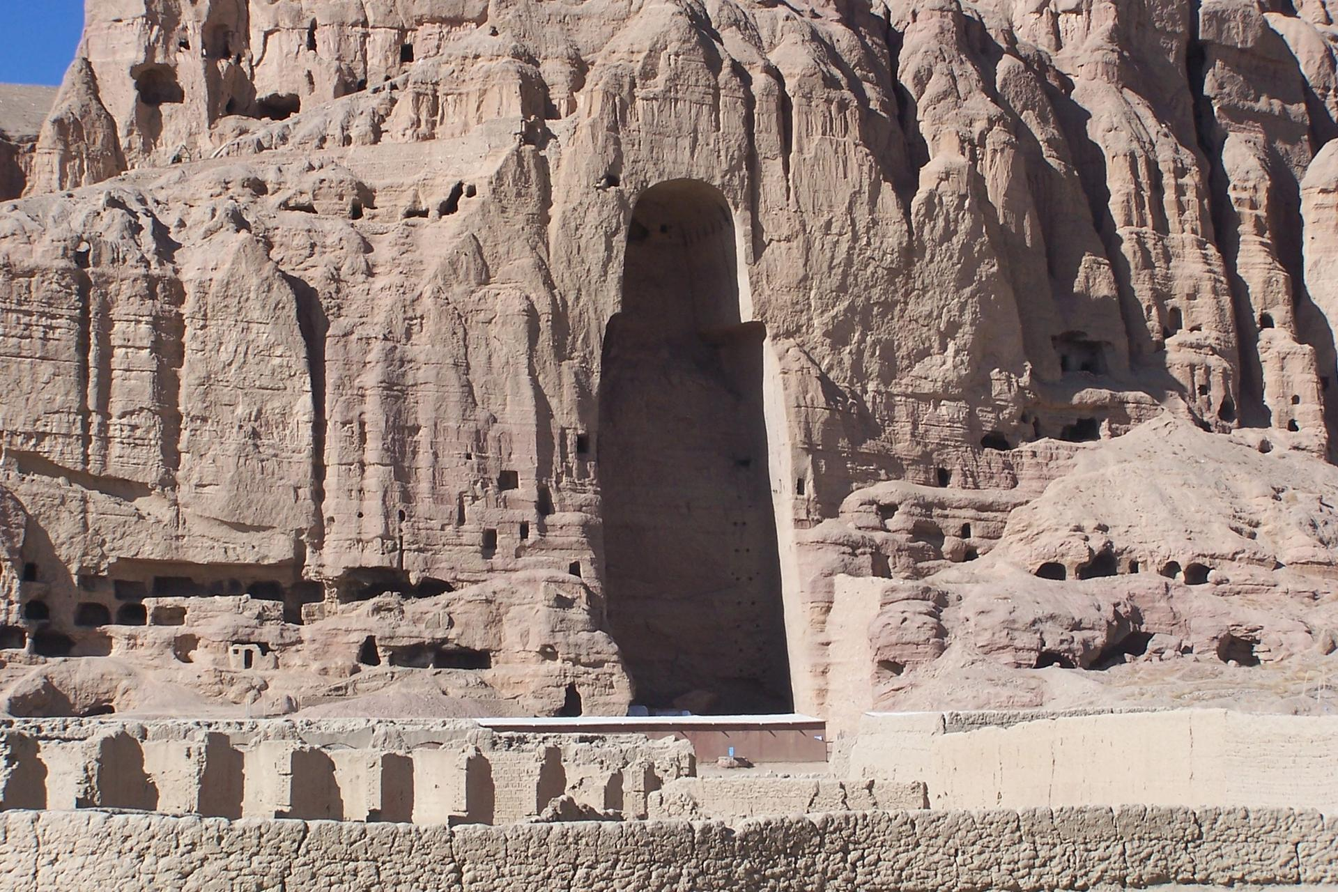 An empty niche in Bamiyan, Afghanistan where a monumental  Buddha statue once stood—until the Taliban destroyed it Photo: Carlos Ugarte via Flickr