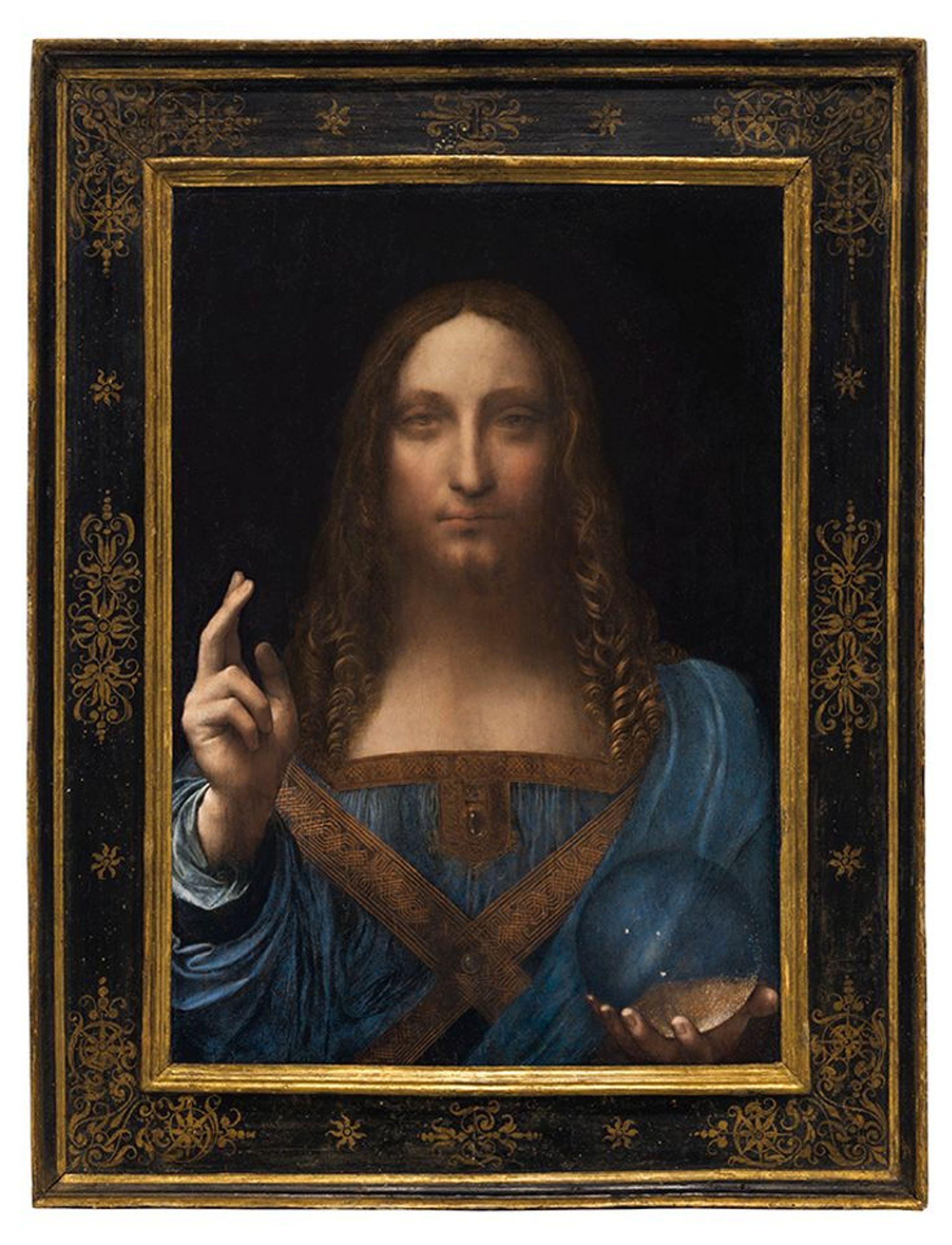 Leonardo da Vinci's Salvator Mundi (circa 1500) Courtesy of Christie's Images LTD 2017