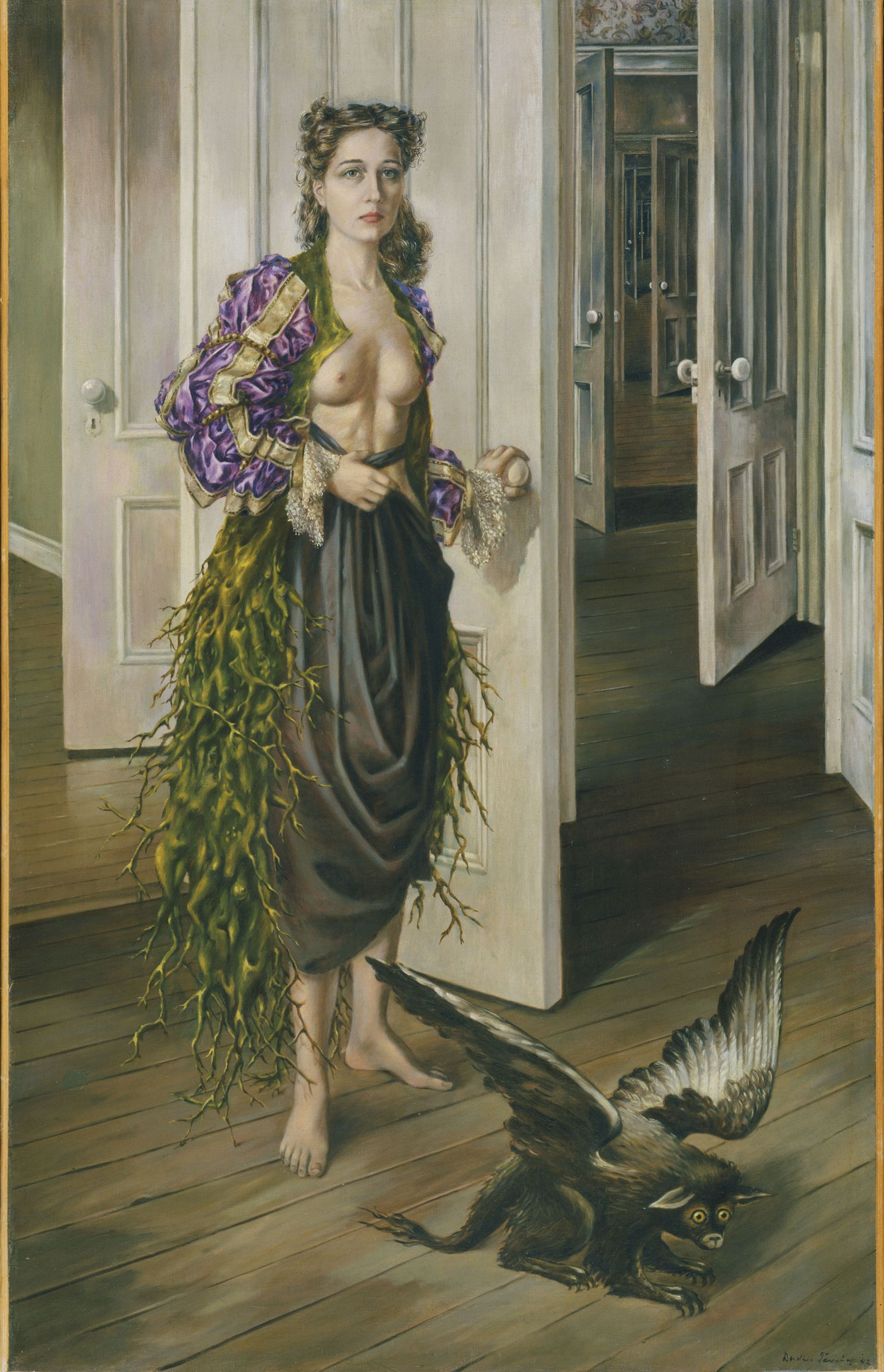 Tanning's self-portrait Birthday (1942) will be the first work visitors see in the exhibition Philadelphia Museum of Art, 125th Anniversary Acquisition. Purchased with funds contributed by C. K. Williams, II, 1999-50-1 © Artists Rights Society (ARS), New York