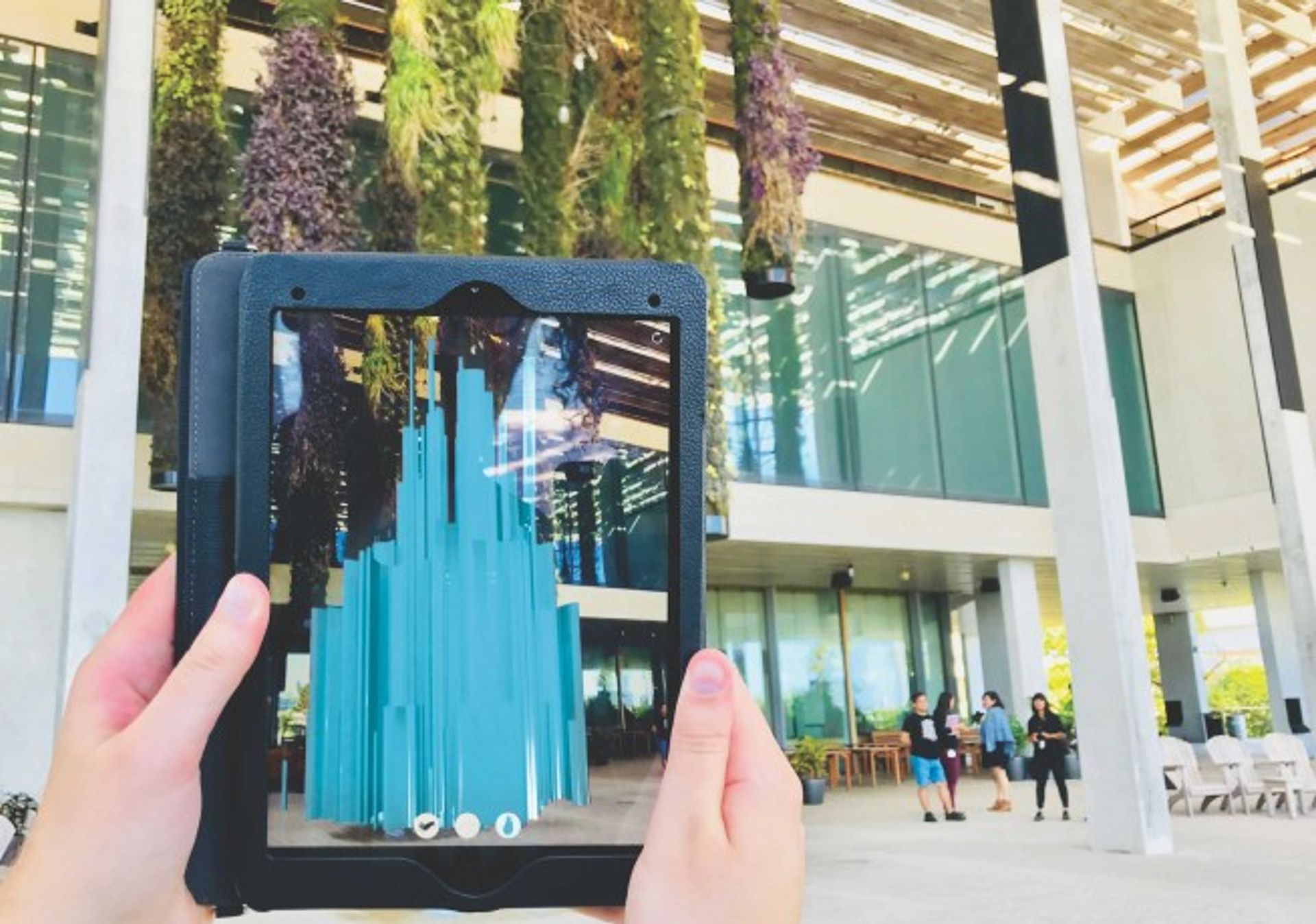 While artists have been experimenting with augmented reality for years, as seen in Felice Grodin's 2017 Invasive Species installation in Miami, dealers are also using the technology to sell to collectors. Courtesy of Felice Grodin and the Pérez Art Museum Miami