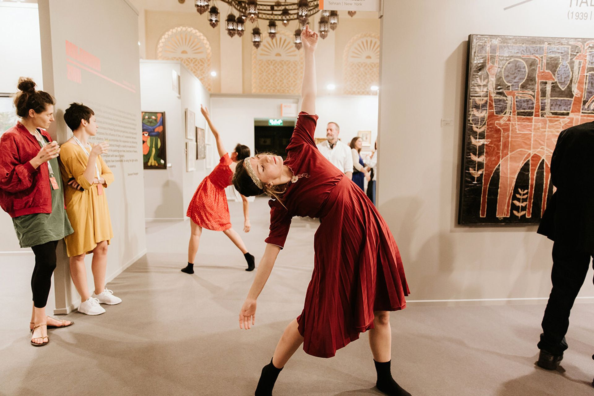 Another blow for Art Dubai fair as it moves its dates again—and its venue Lana Fahmi's What Modernity performance at Art Dubai in 2017. Courtesy of Art Dubai © Daniella Baptista 2017