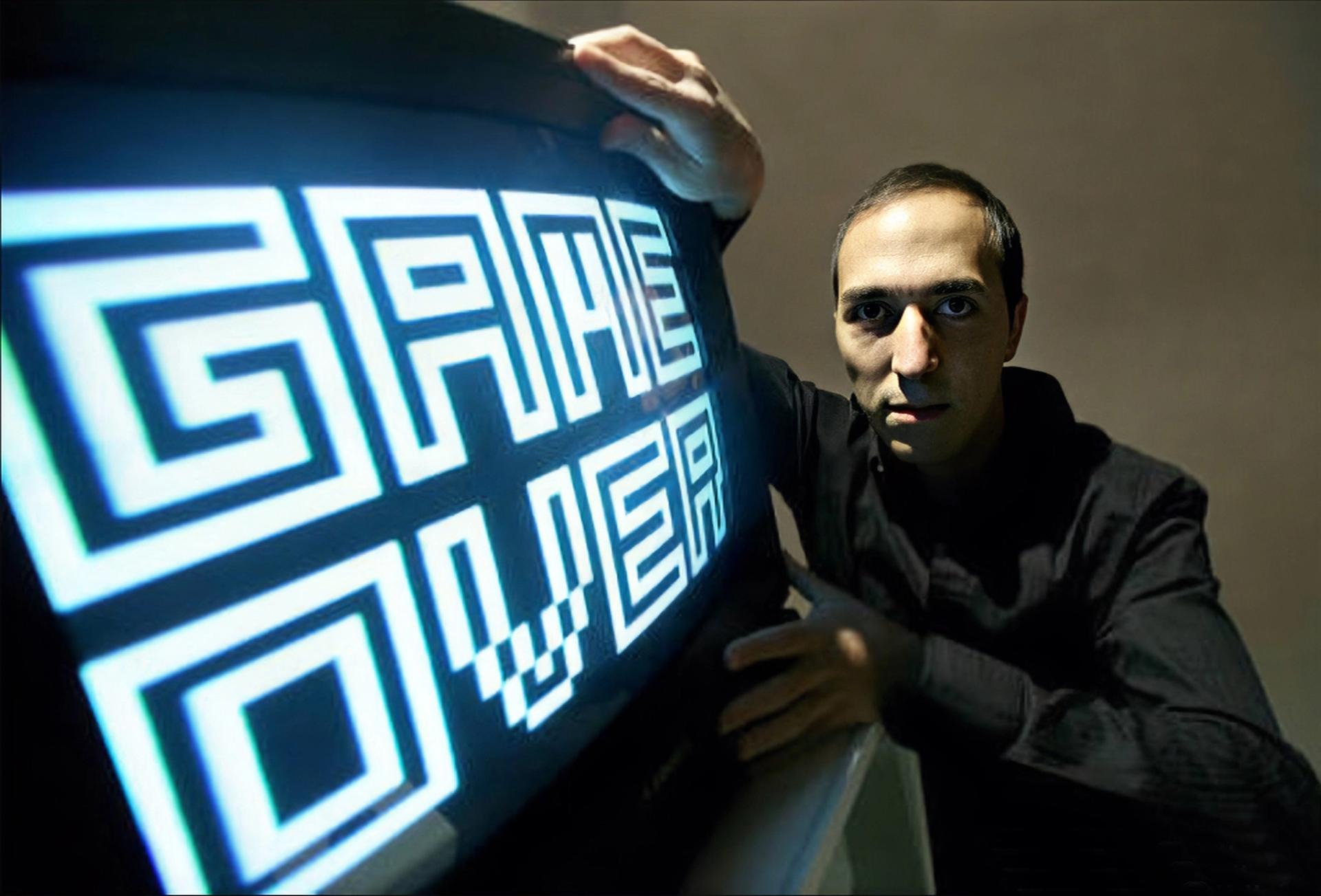 """""""I was truly passionate about the Atari. It had a quite strange and unique effect on my ability to relate to machines, and technology,"""" the artist Yucef Merhi says"""