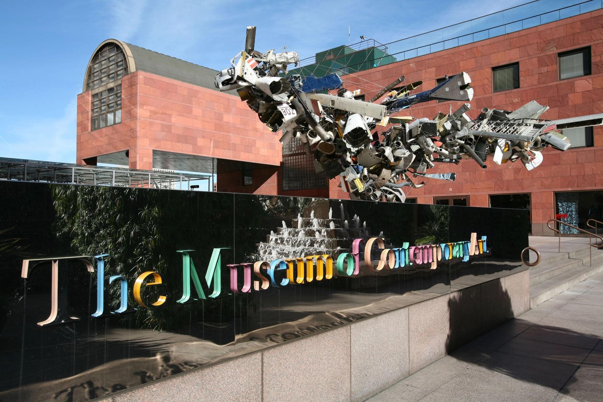 MoCA's Grand Avenue building, designed by Arata Isozaki Photo: Marissa Roth, courtesy of the Museum of Contemporary Art, Los Angeles