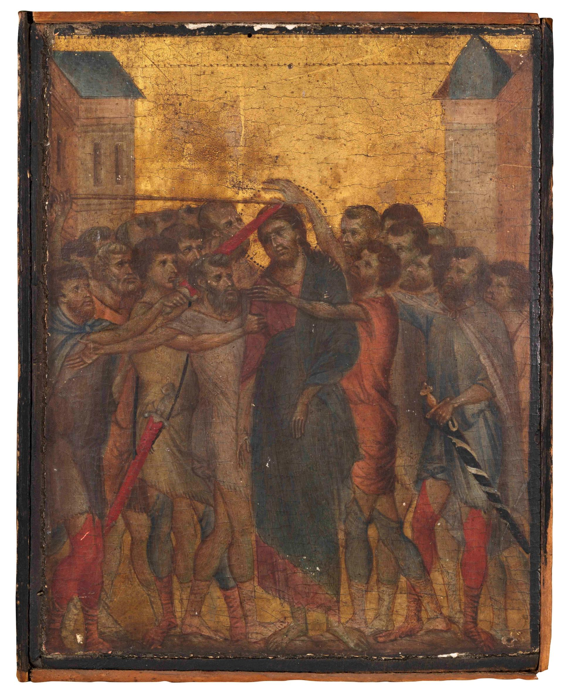 This small panel by the Florentine artist Cimabue was sold in France today for €24.1m to an anonymous collector Courtesy of Actéon and Eric Turquin