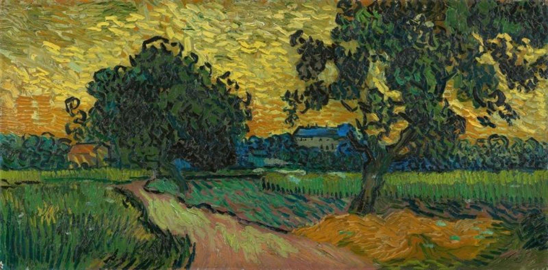 Van Gogh's Landscape at Twilight (June 1890) Courtesy of the Van Gogh Museum, Amsterdam (Vincent van Gogh Foundation)