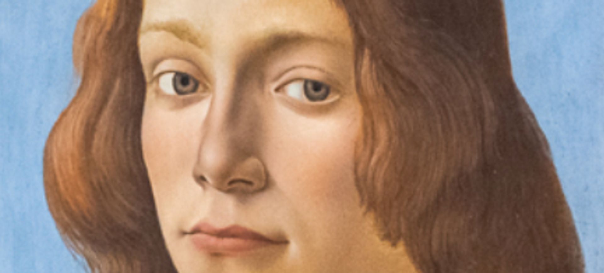 Close up of Sandro Botticelli's Portrait of a Young Man Holding a Roundel (around 1480), which is set to break a record for the Old Master painter PHOTO: JULIAN CASSADY PHOTOGRAPHY; COURTESY OF SOTHEBY'S