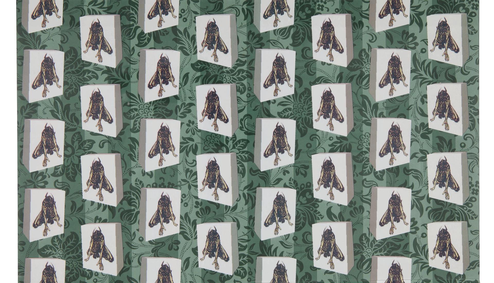 David Bowie, Minotaur wallpaper courtesy Sotheby's