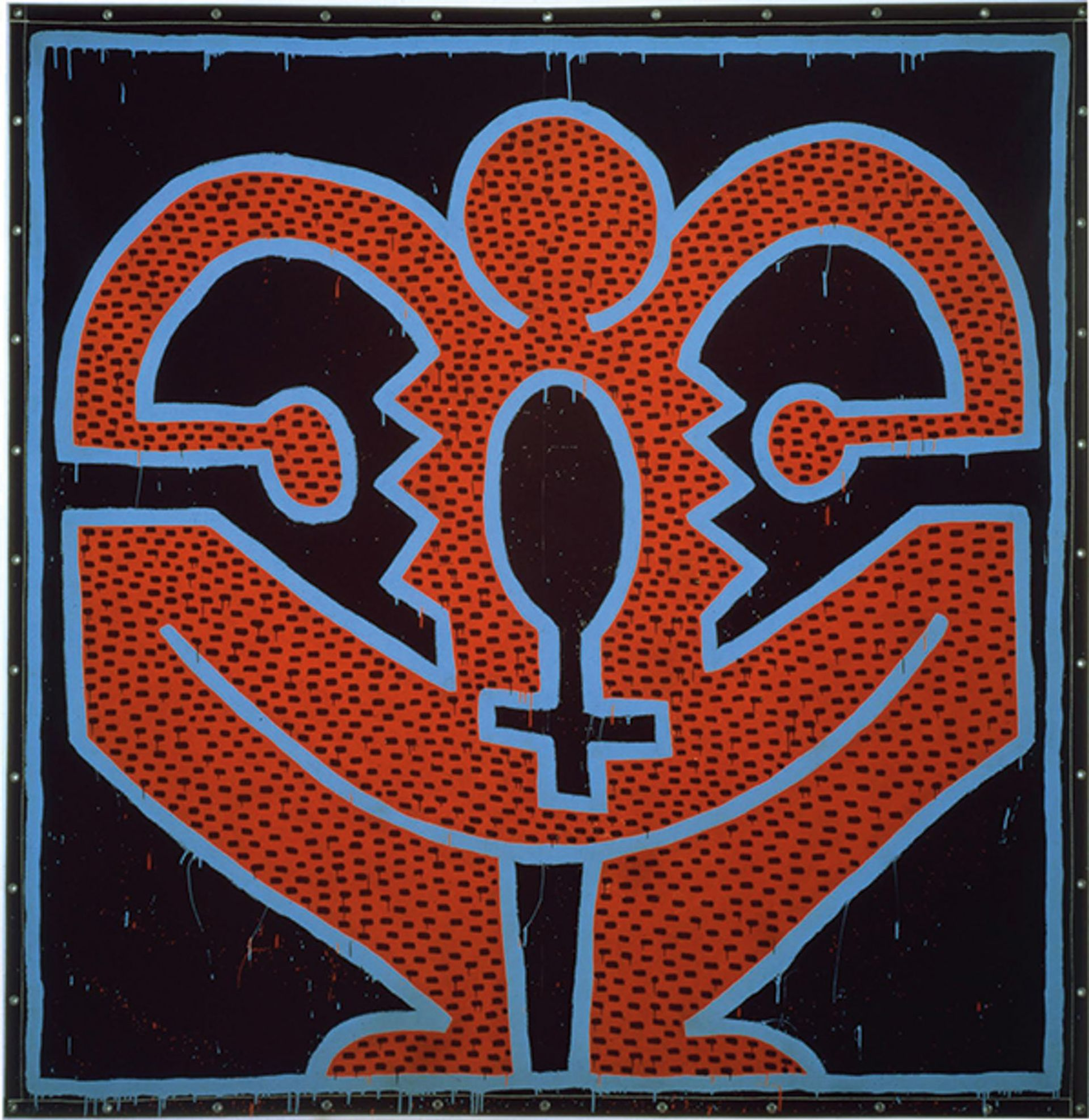 Keith Haring's canvas tarpaulin painting Untitled (1983) was one of the works to be sold by Edelman Courtesy of Edelman Arts