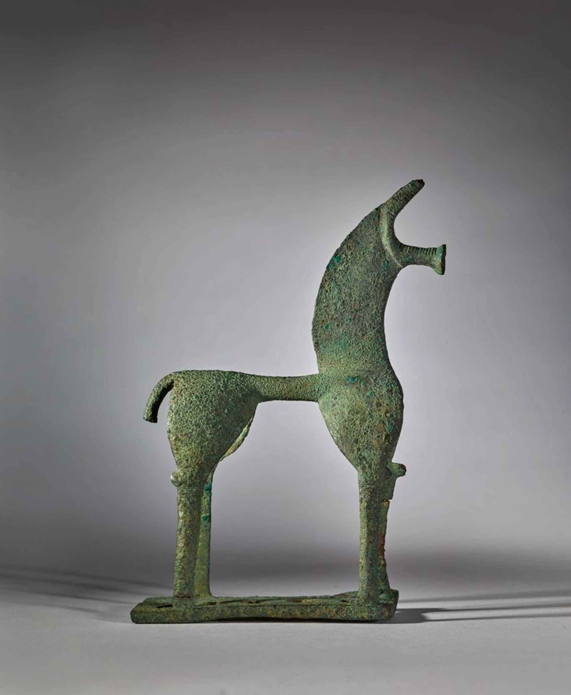 The ancient bronze horse was withdrawn from a 2018 sale after Greece demanded its return. © Sotheby's