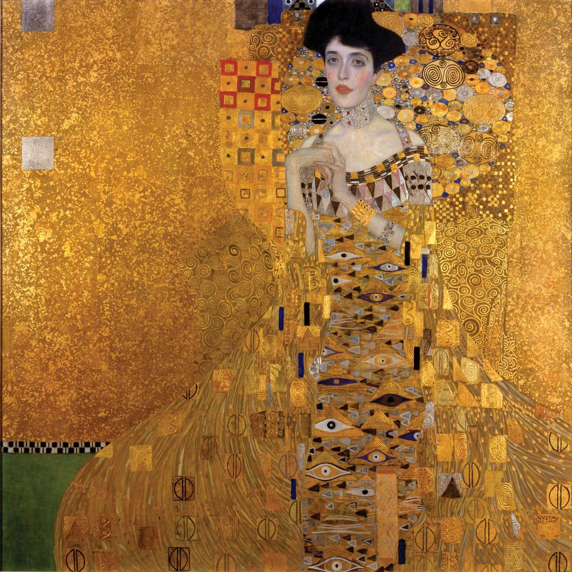 Maria Altmann is seeking six works by Gustav Klimt looted by the Nazis, including Portrait of Adele Bloch-Bauer I (1907) Photo: Neue Galerie New York