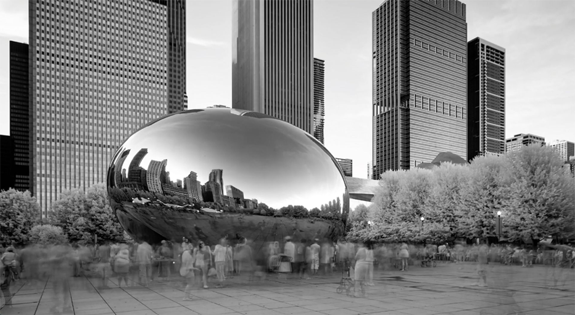 """Still from the NRA's promotional video The Violence of Lies, featuring Anish Kapoor's Chicago """"Bean"""" sculpture NRA"""